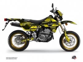 Suzuki DRZ 400 SM Street Bike Oblik Graphic Kit Yellow