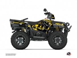 Polaris 450 Sportsman ATV Ohlins Graphic Kit Grey Yellow