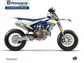 Kit Déco Moto Cross Orbit Husqvarna 450 FS Blanc