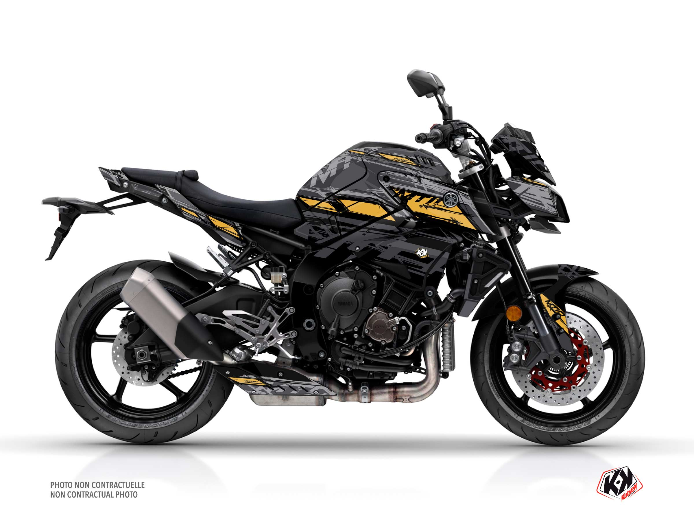 Yamaha MT 10 Street Bike Channel Graphic Kit Black