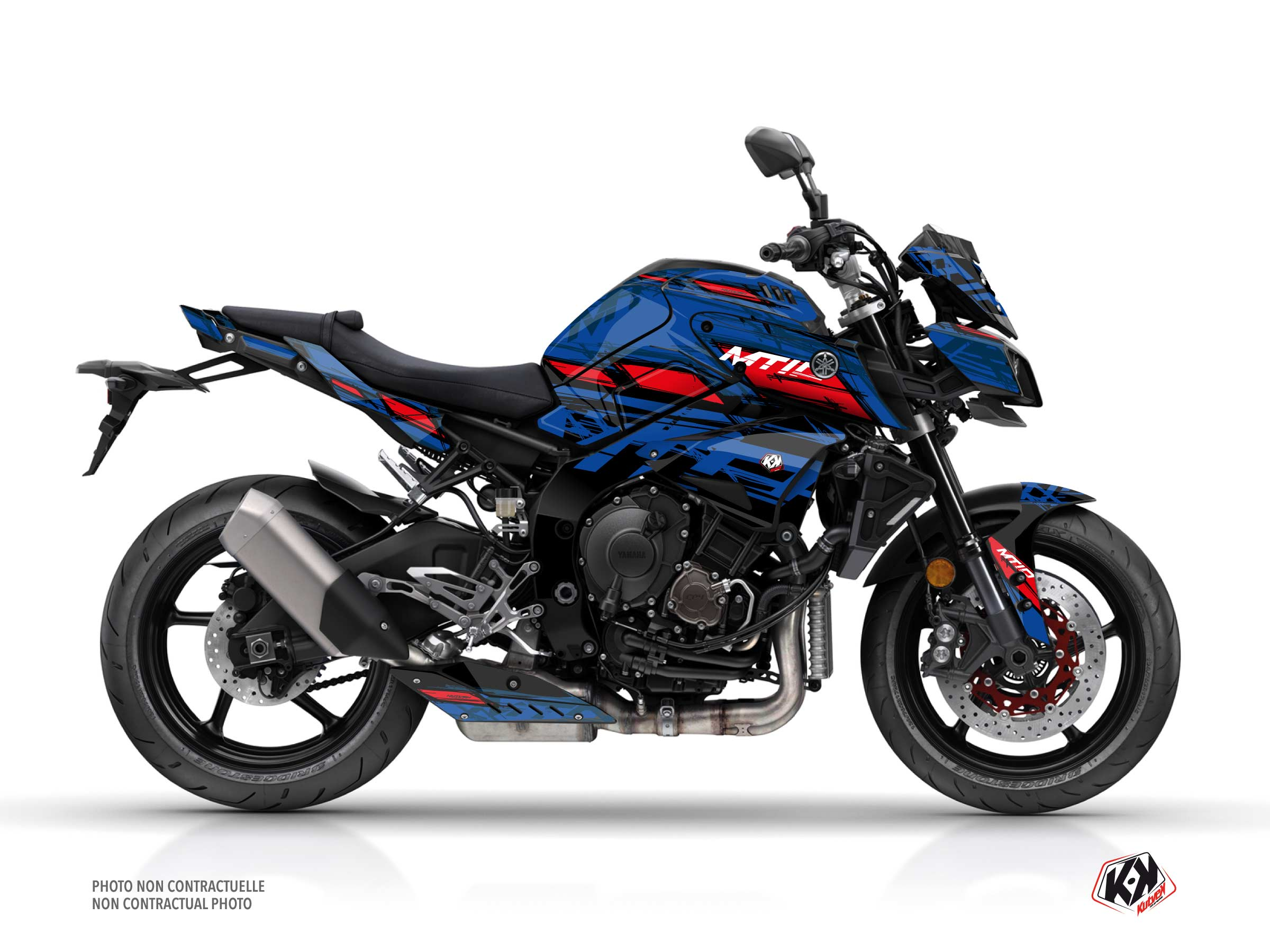 Yamaha MT 10 Street Bike Channel Graphic Kit Blue