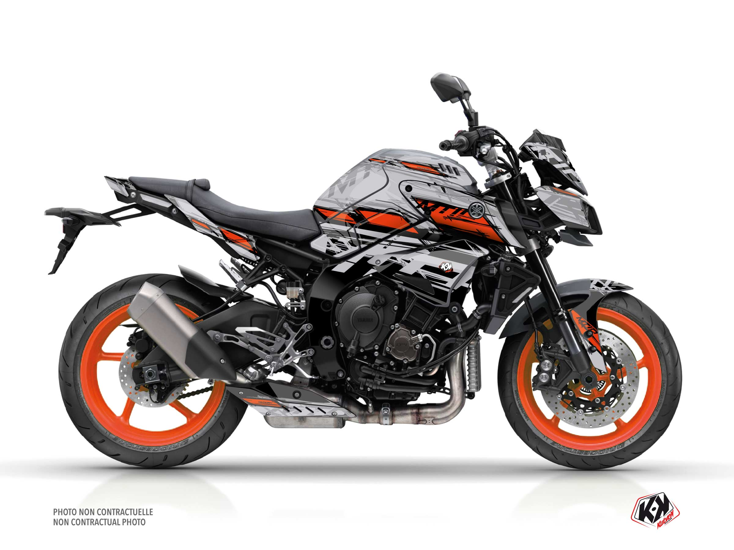Yamaha MT 10 Street Bike Channel Graphic Kit Grey