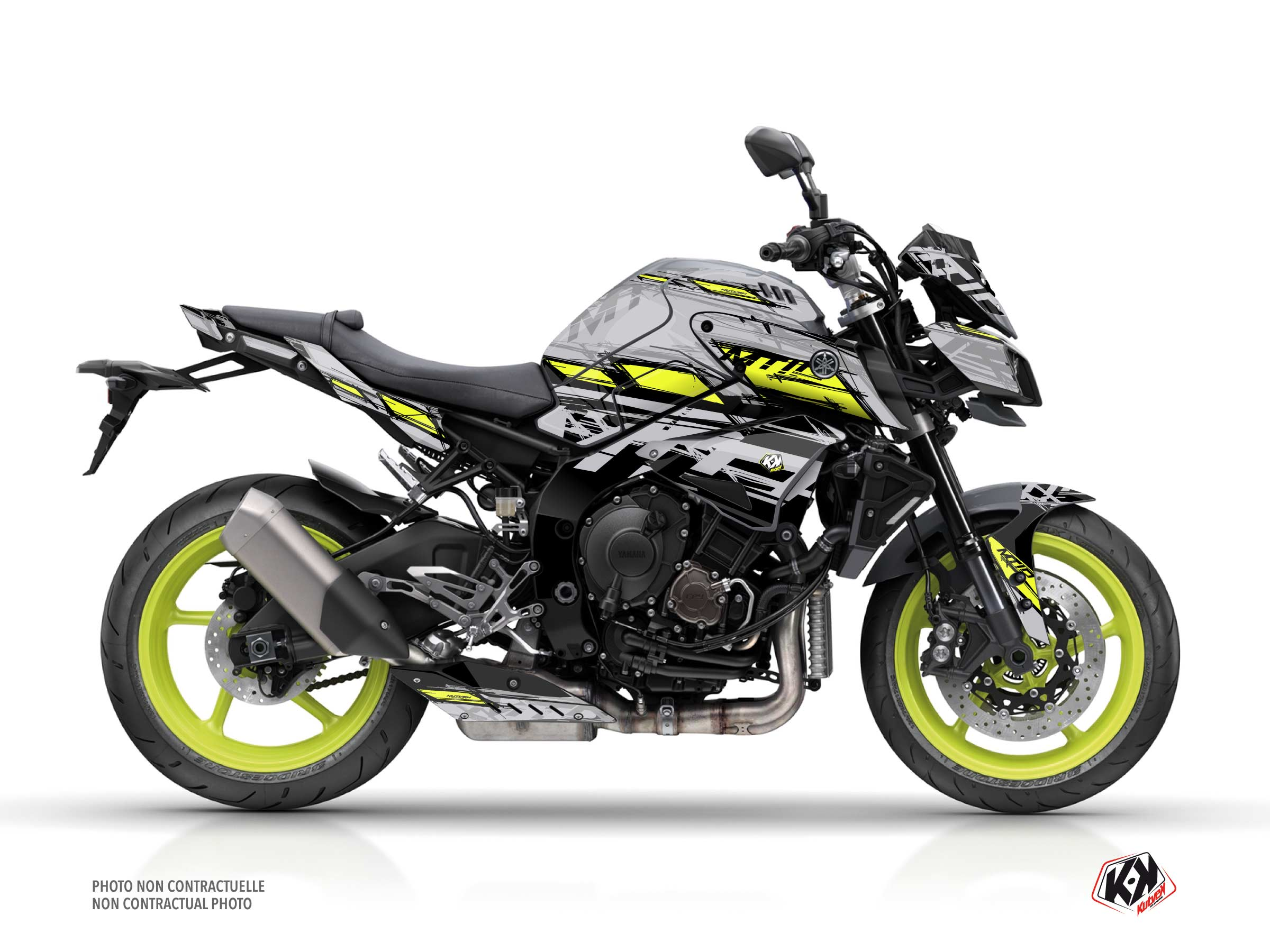 Yamaha MT 10 Street Bike Channel Graphic Kit Yellow