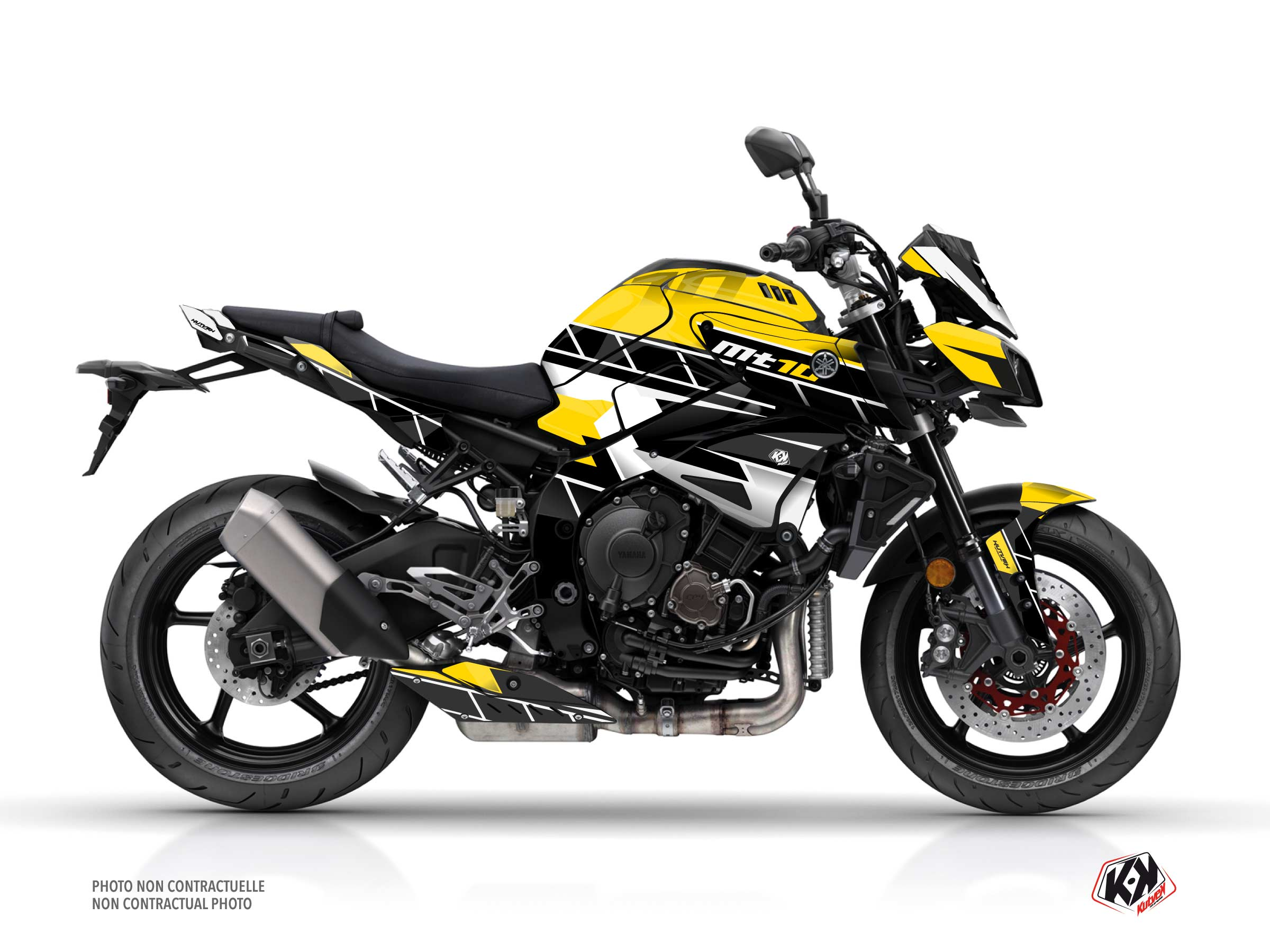 Yamaha MT 10 Street Bike Conquer Graphic Kit Black