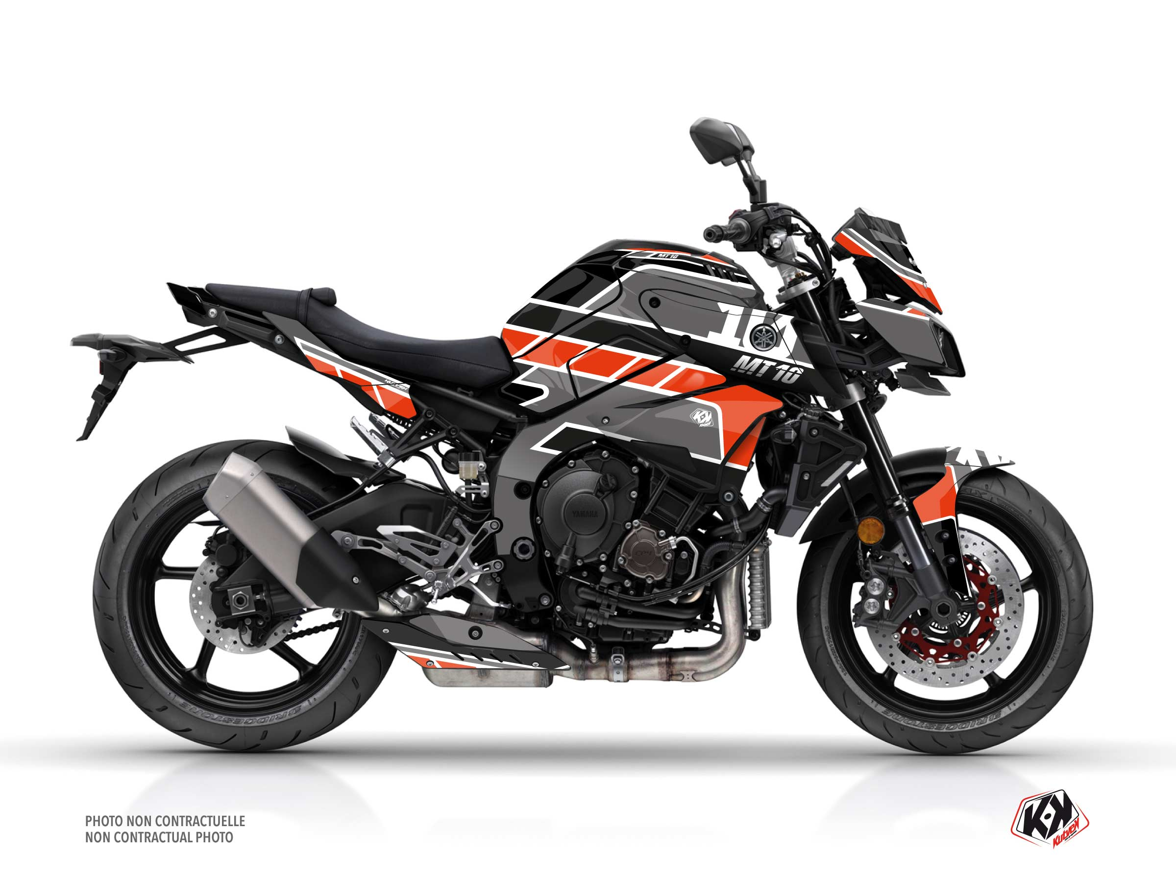 Yamaha MT 10 Street Bike Player Graphic Kit Black