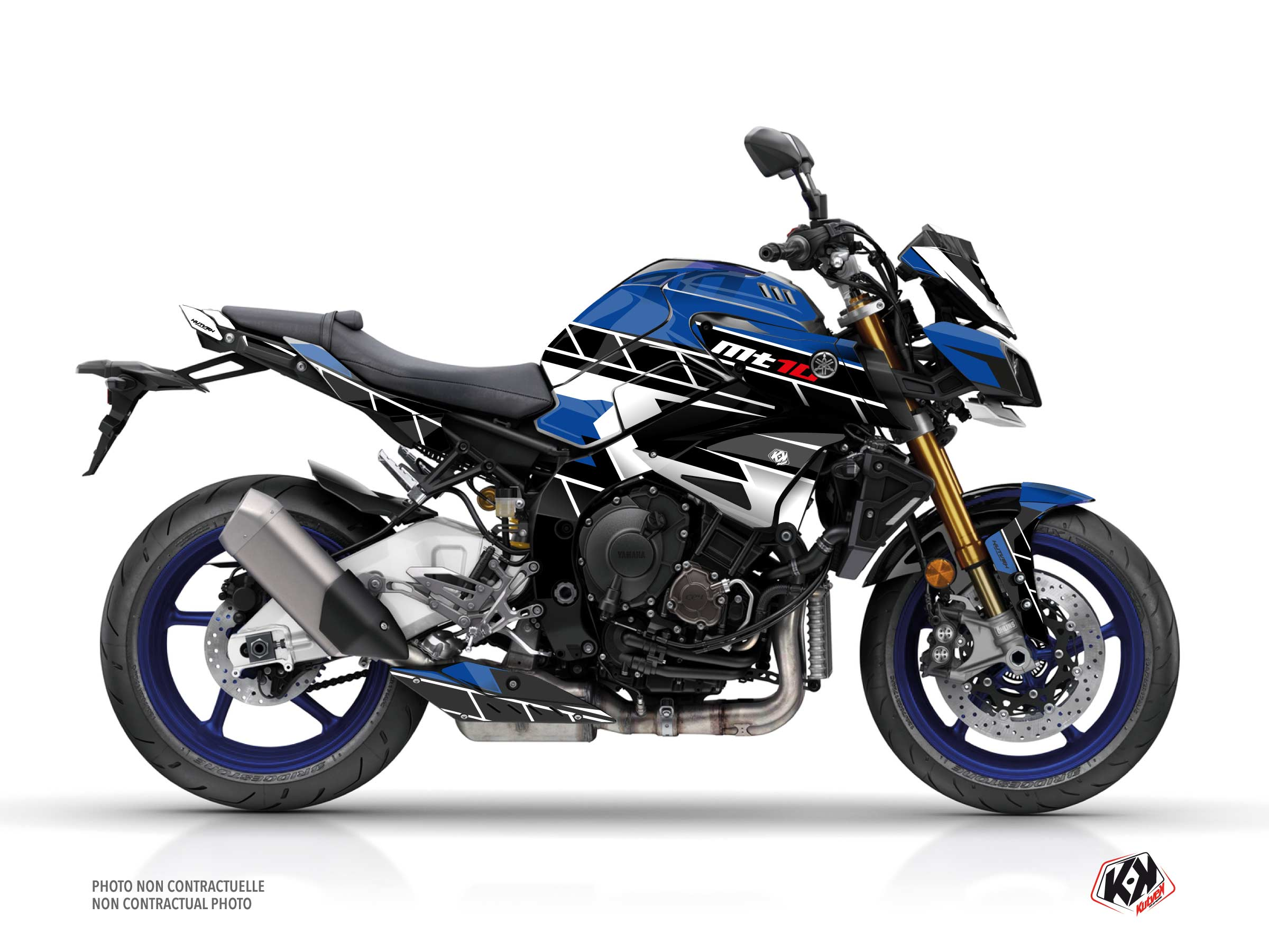 Yamaha MT 10 Street Bike Conquer Graphic Kit Blue