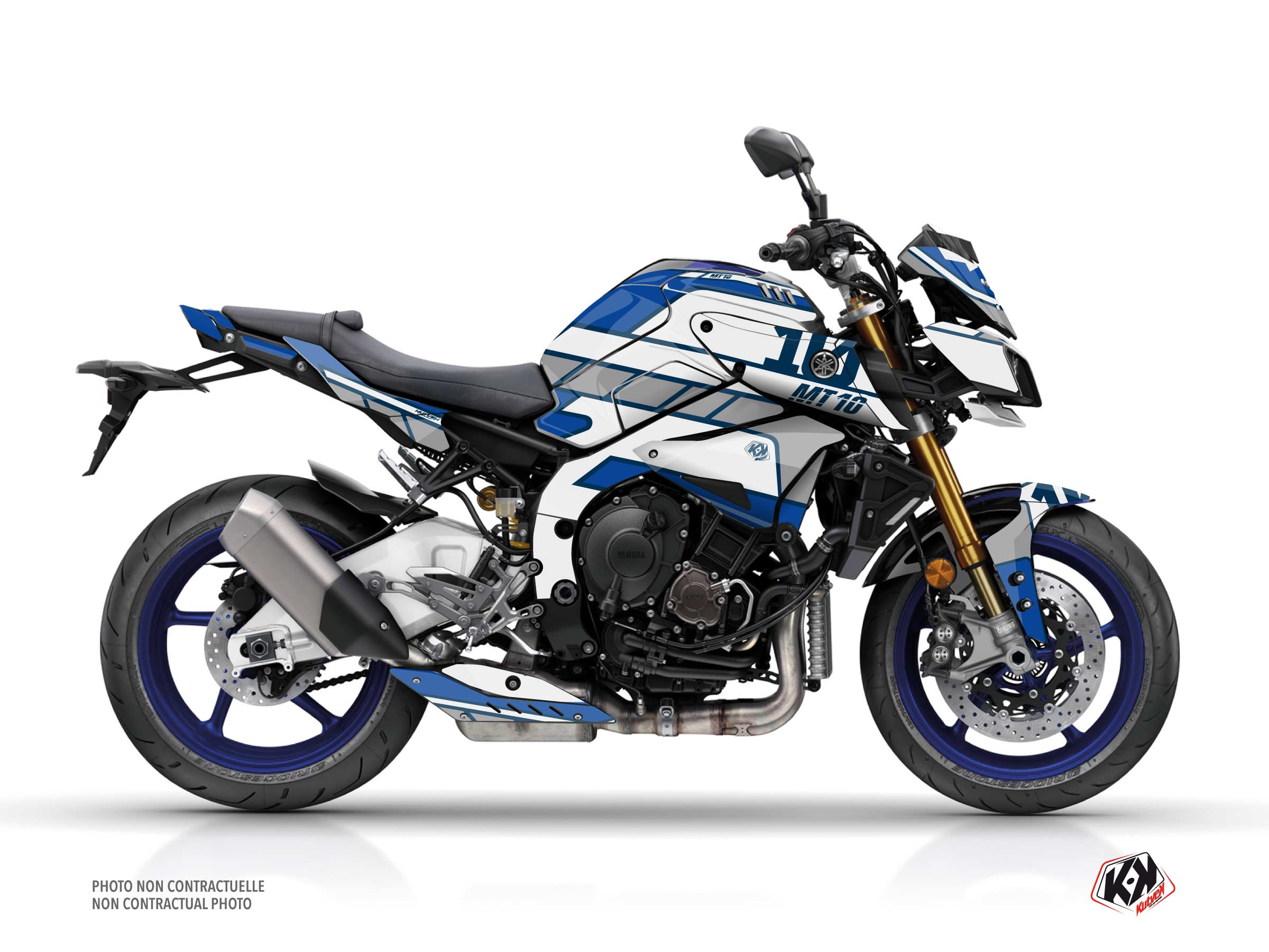 Yamaha MT 10 Street Bike Player Graphic Kit Blue