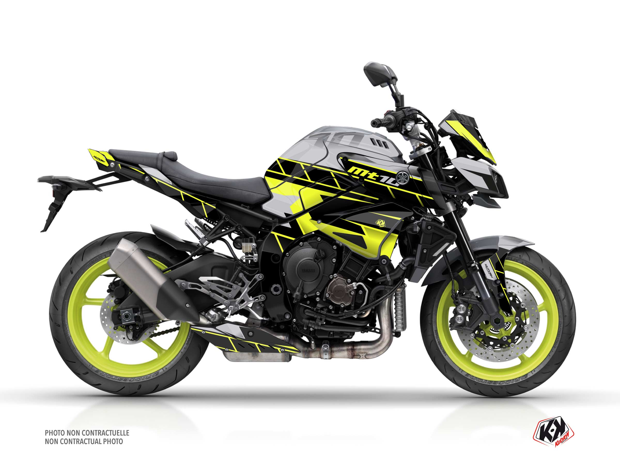 Yamaha MT 10 Street Bike Conquer Graphic Kit Yellow