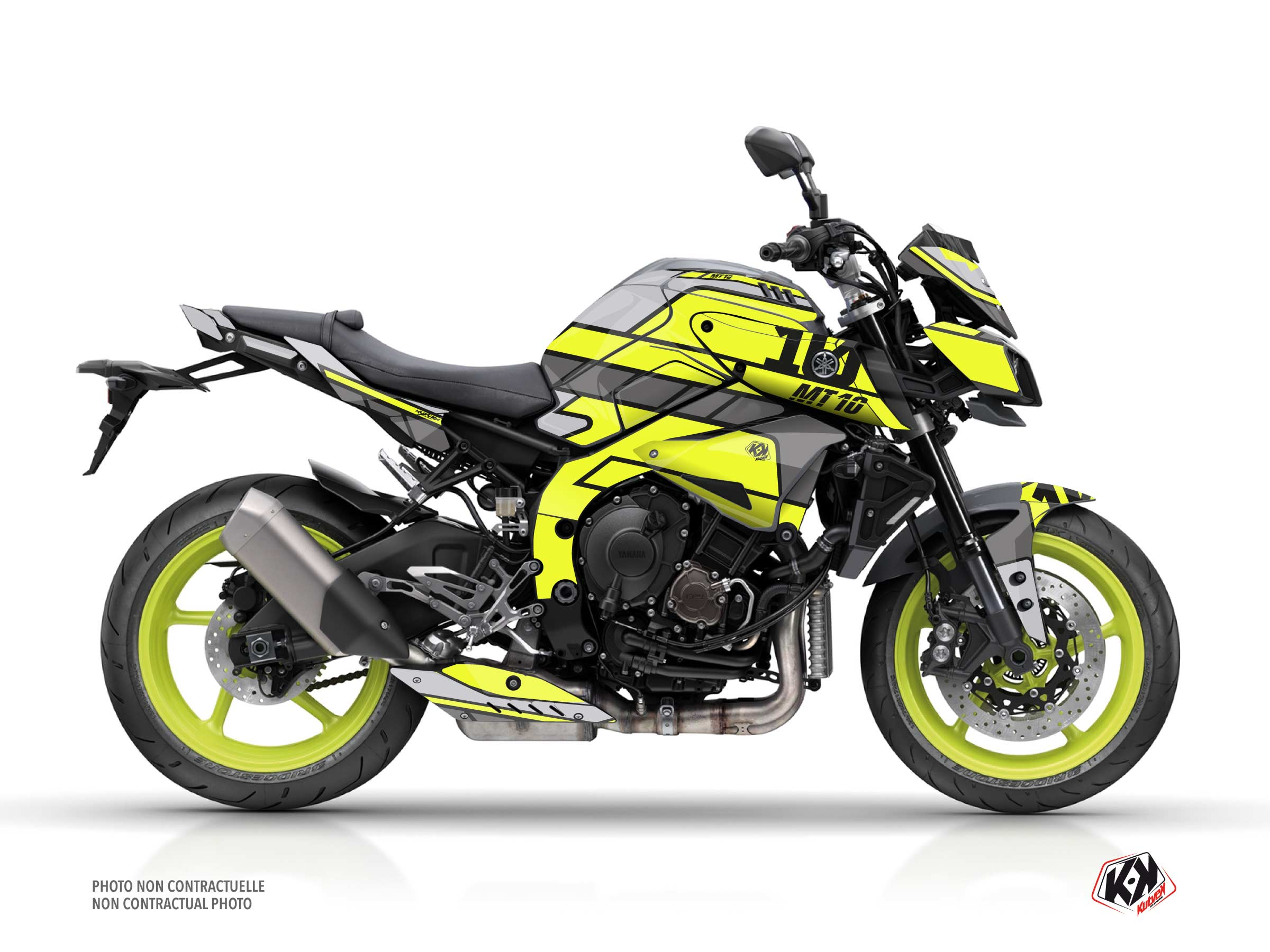Yamaha MT 10 Street Bike Player Graphic Kit Yellow