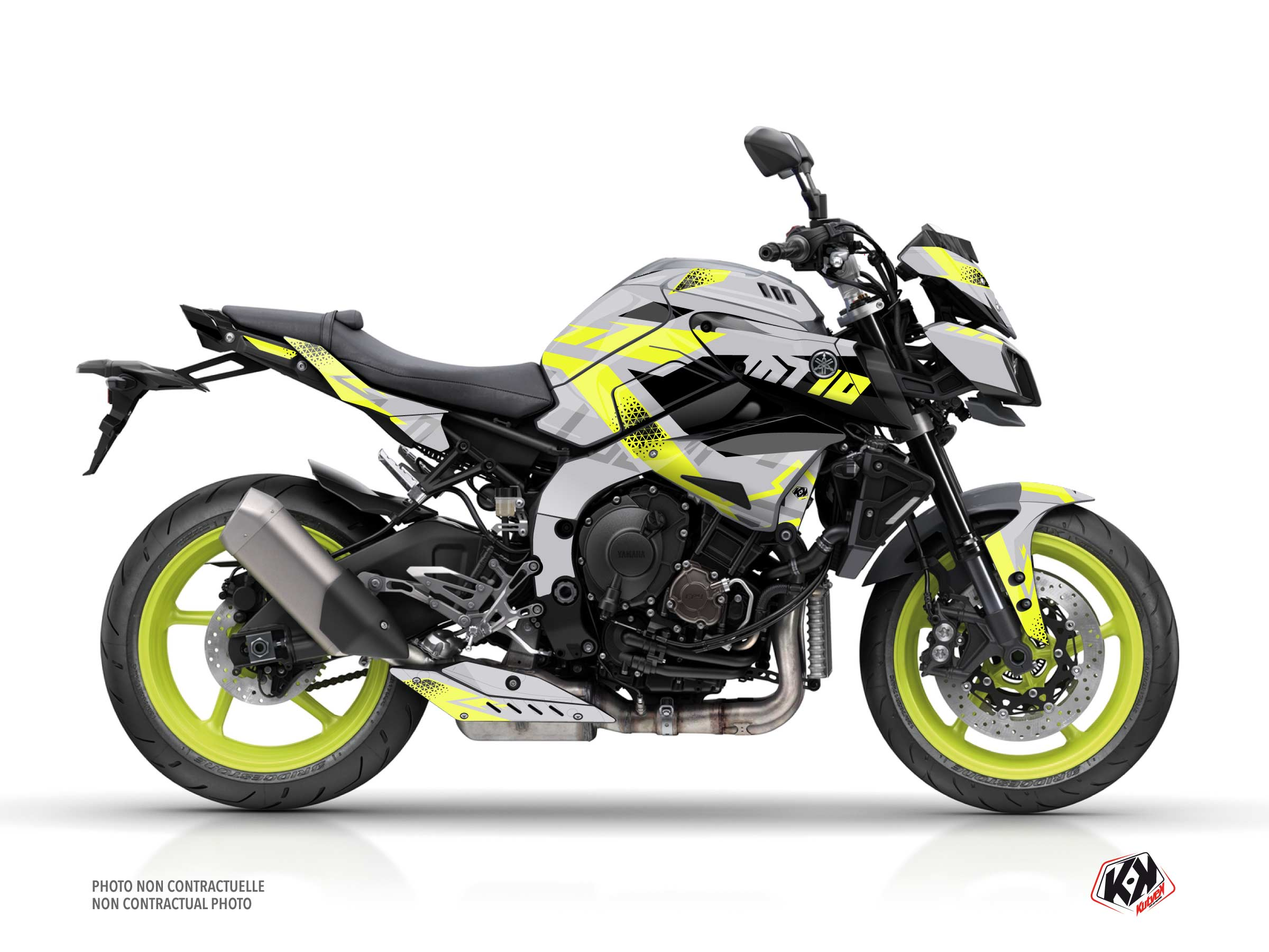 Yamaha MT 10 Street Bike Sanctuary Graphic Kit Yellow