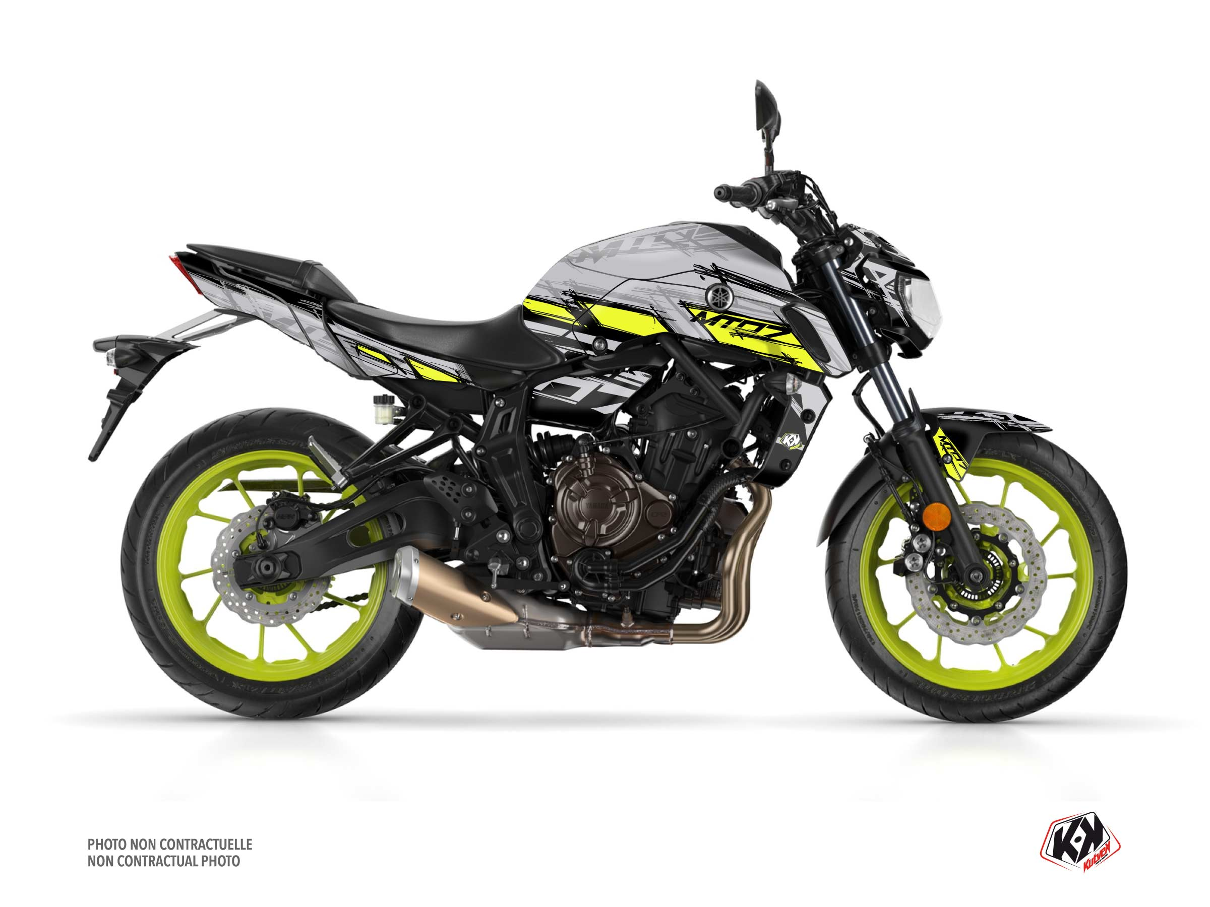 Yamaha MT 07 Street Bike Channel Graphic Kit Yellow