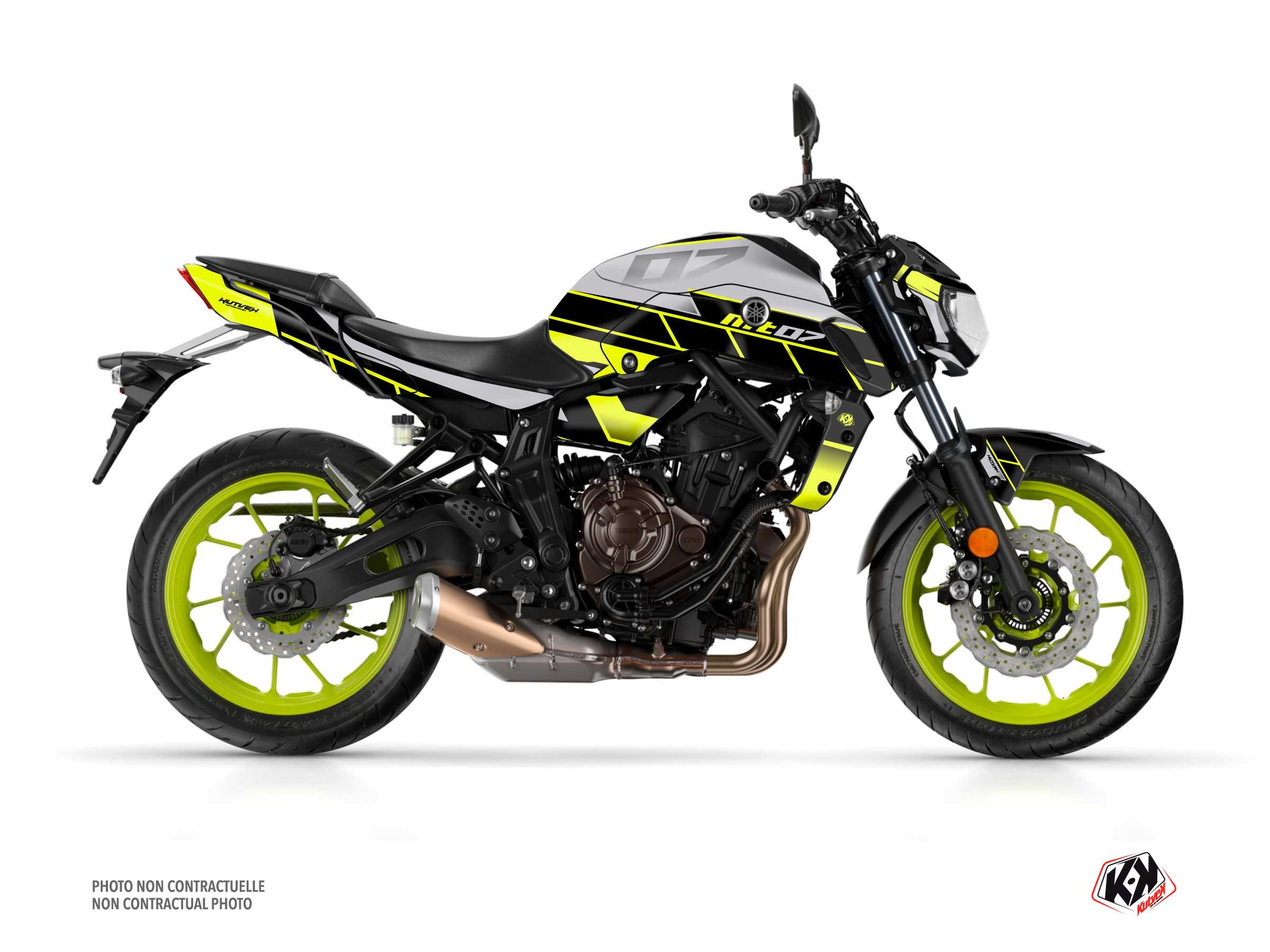Kit Déco Moto Conquer Yamaha MT 07 Jaune