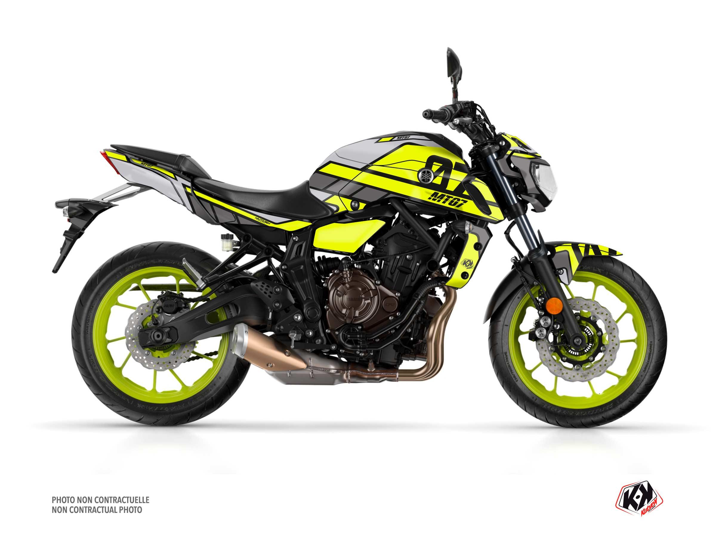 Kit Déco Moto Player Yamaha MT 07 Jaune