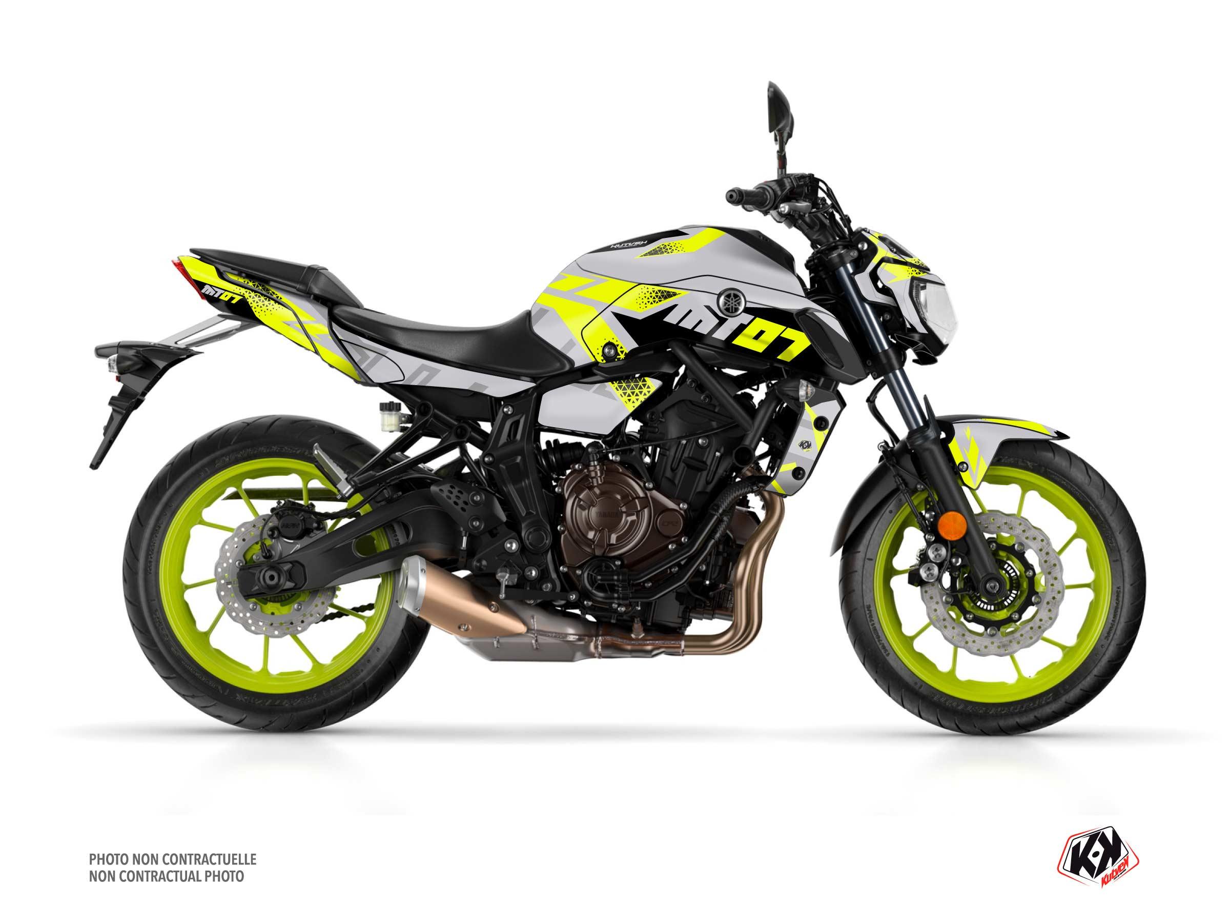 Kit Déco Moto Sanctuary Yamaha MT 07 Jaune