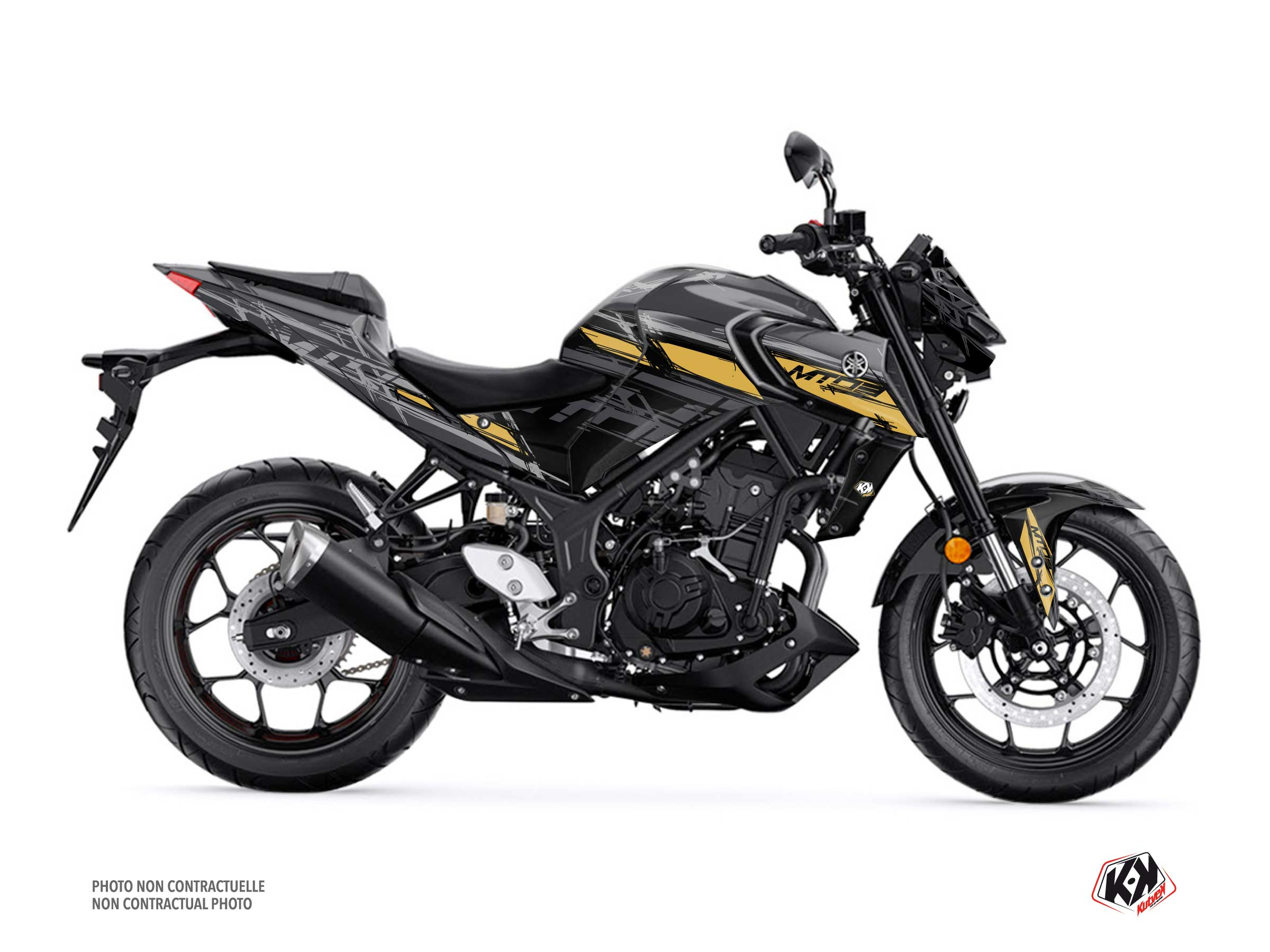 Kit Déco Moto Channel Yamaha MT 03 Noir