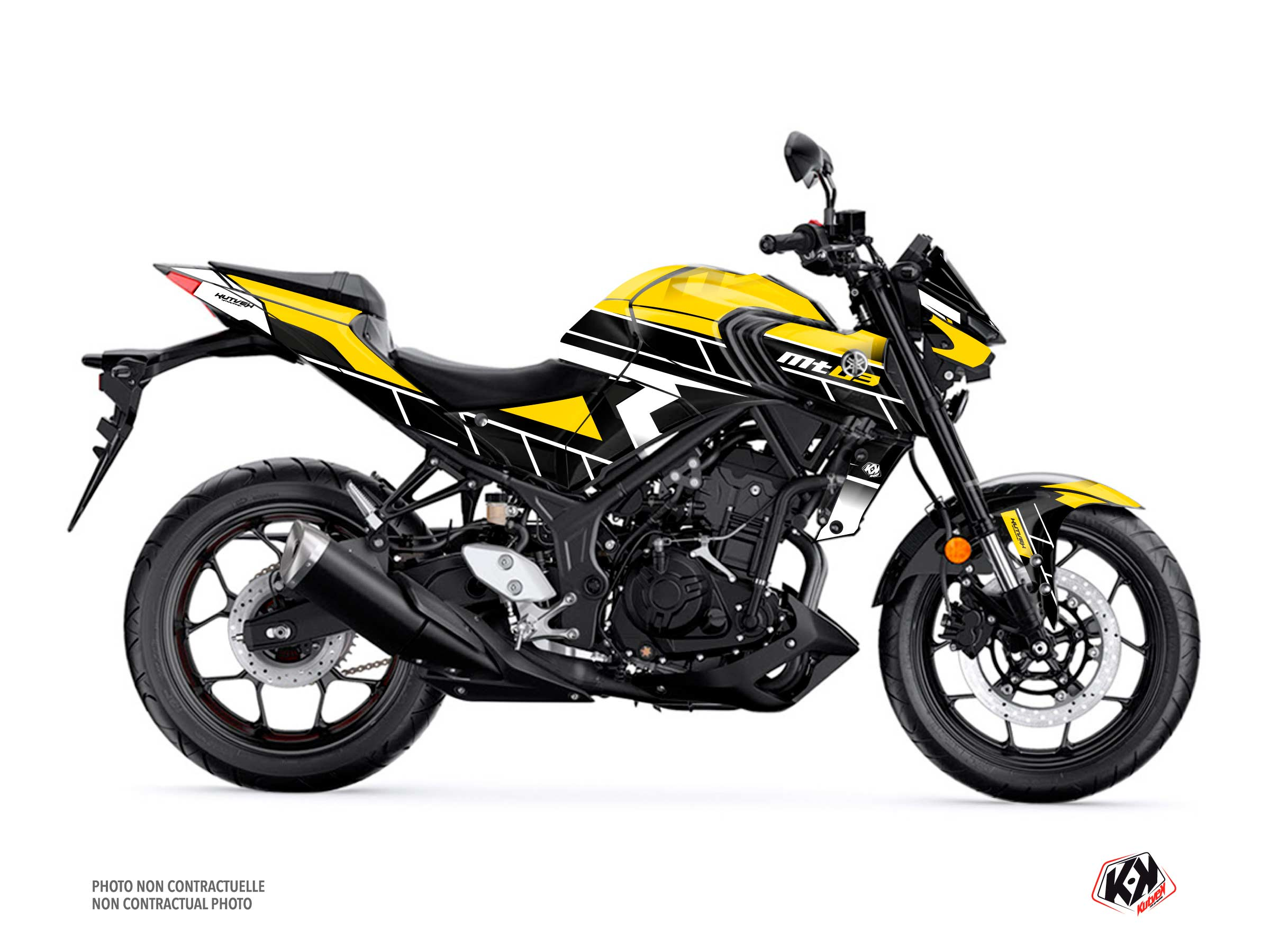 Yamaha MT 03 Street Bike Conquer Graphic Kit Black