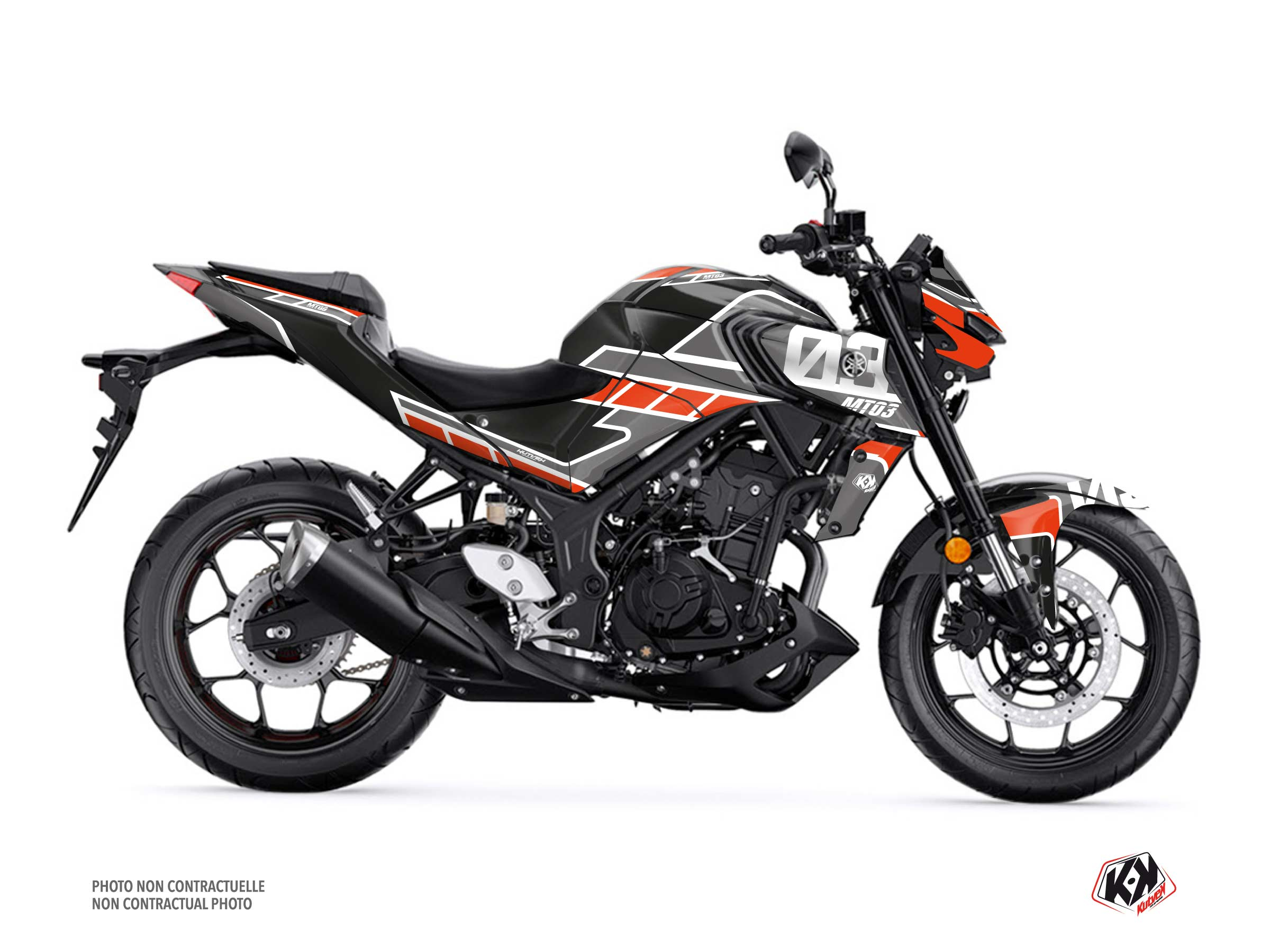 Yamaha MT 03 Street Bike Player Graphic Kit Black