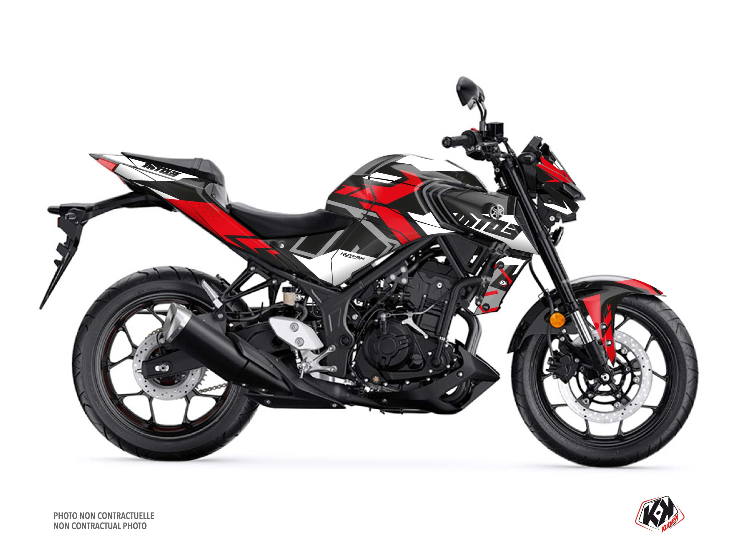 Yamaha MT 03 Street Bike Sanctuary Graphic Kit Black