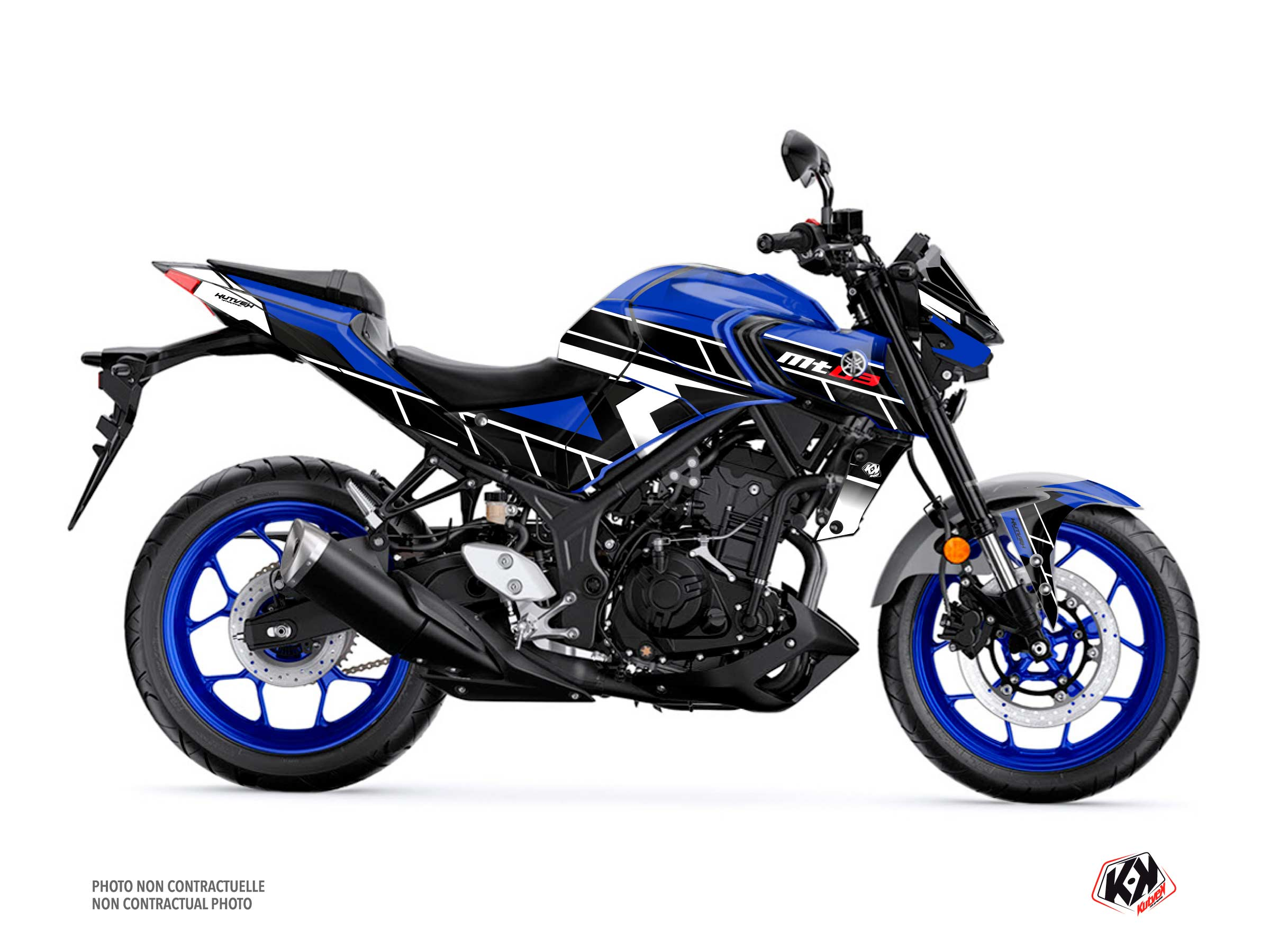 Yamaha MT 03 Street Bike Conquer Graphic Kit Blue
