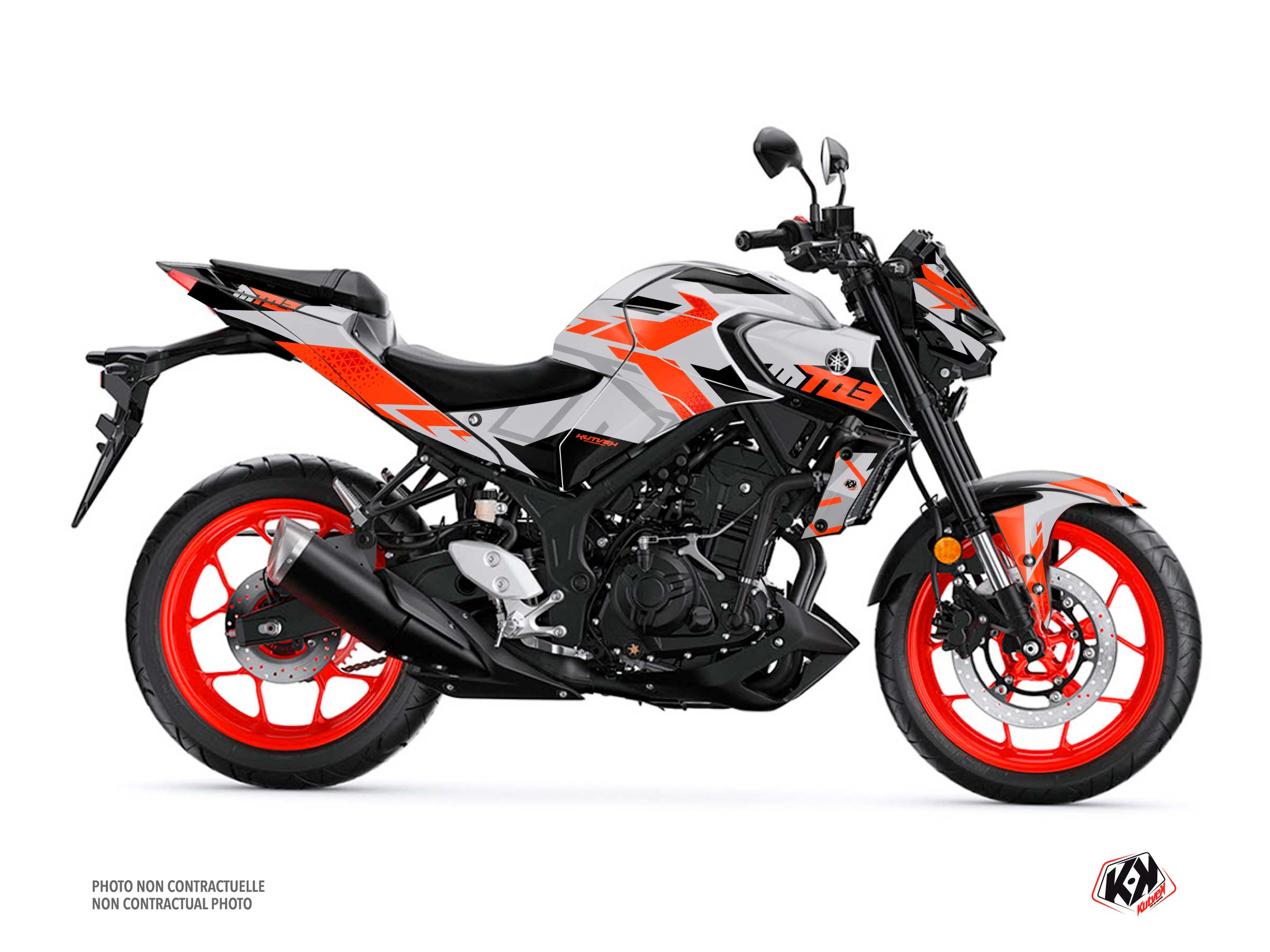 Yamaha MT 03 Street Bike Sanctuary Graphic Kit Grey
