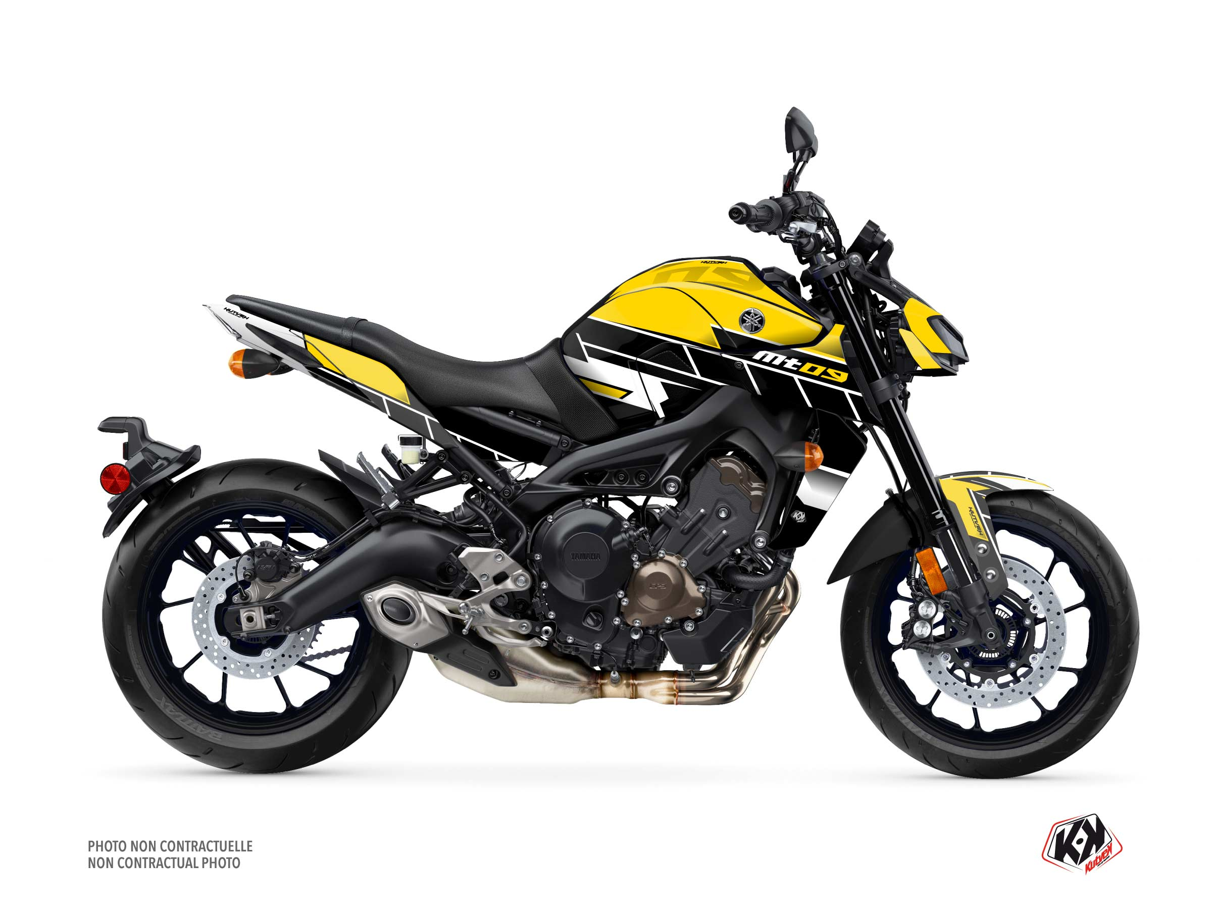 Yamaha MT 09 Street Bike Conquer Graphic Kit Black