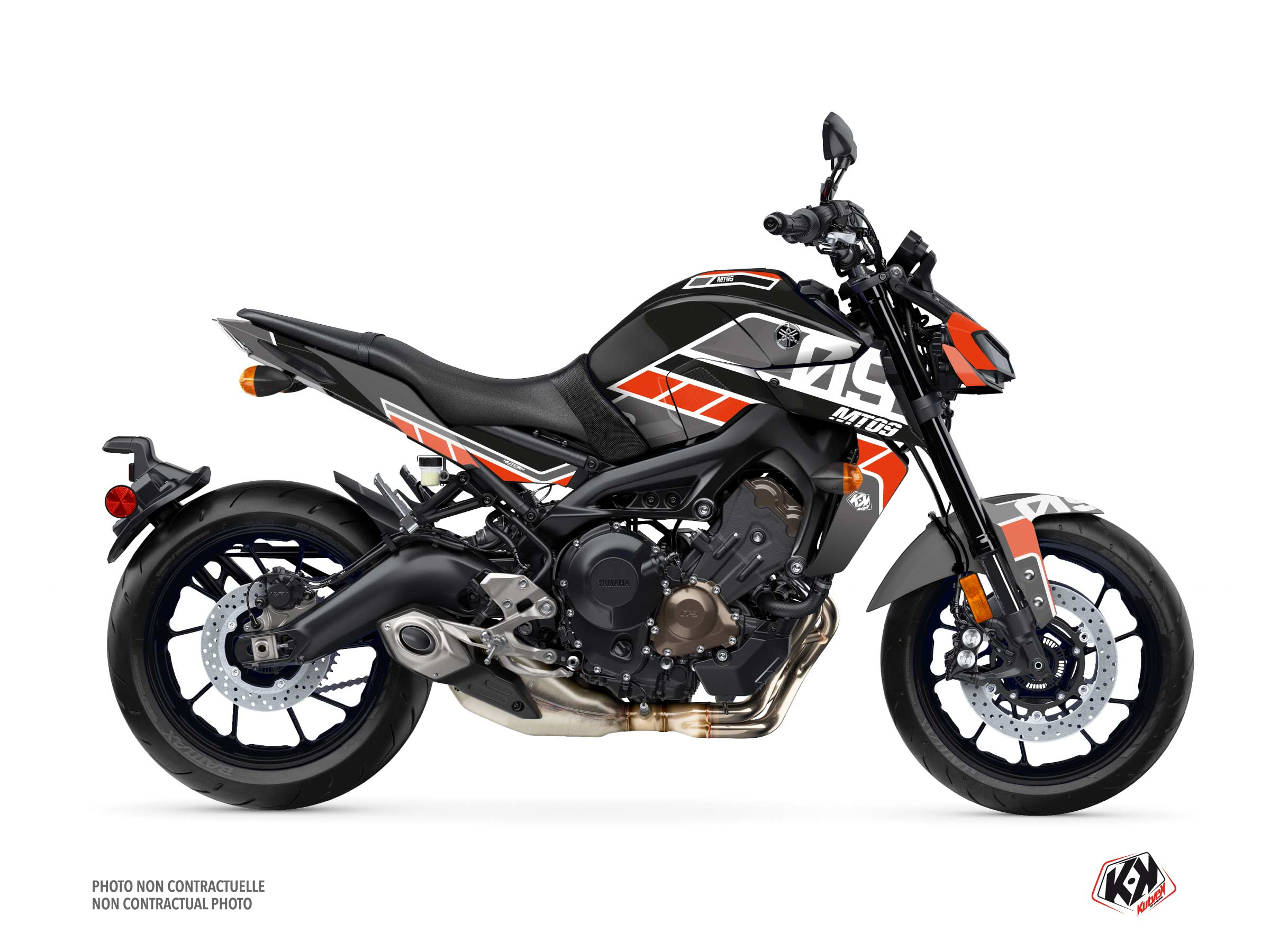 Yamaha MT 09 Street Bike Player Graphic Kit Black