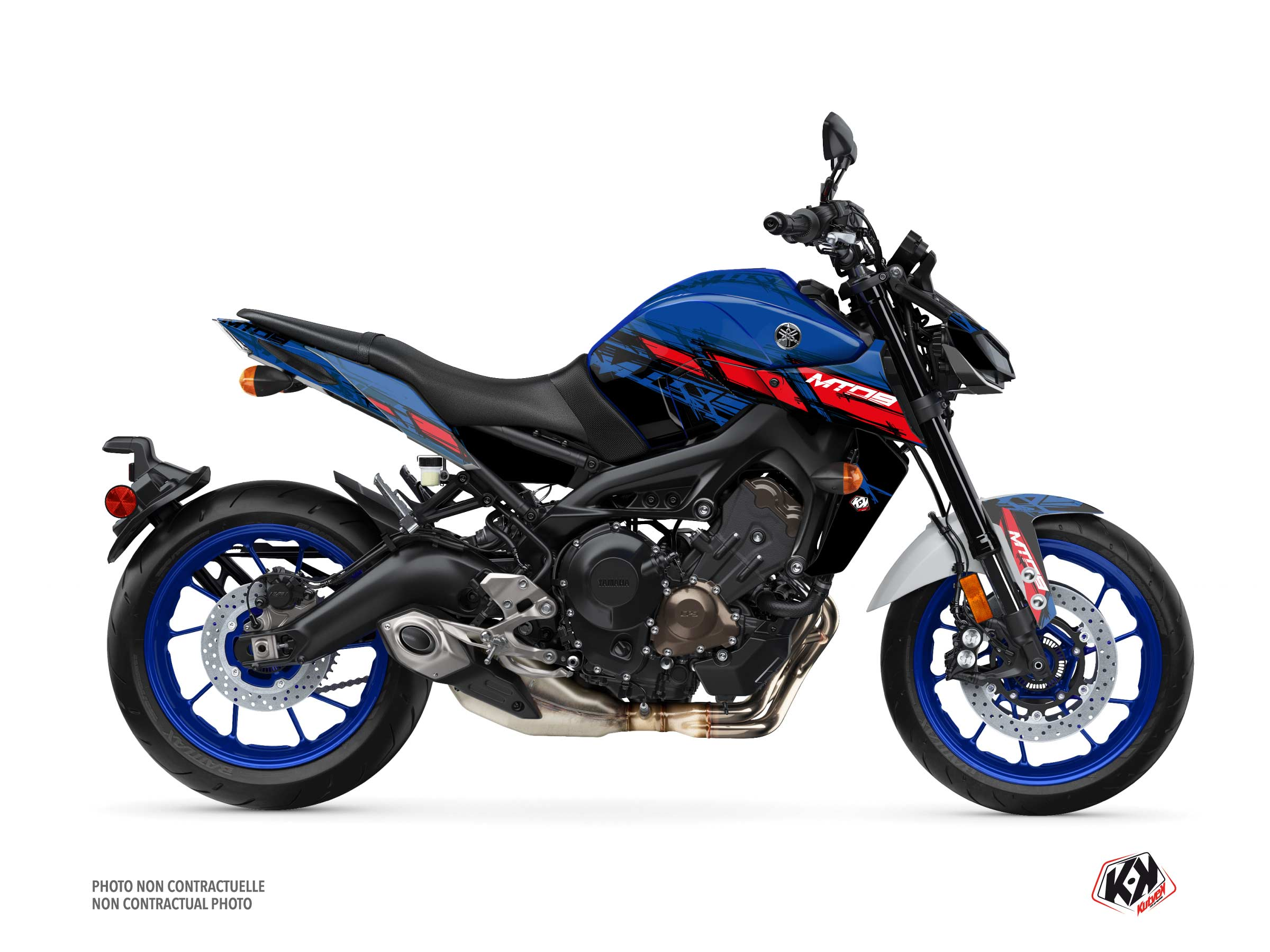 Yamaha MT 09 Street Bike Channel Graphic Kit Blue