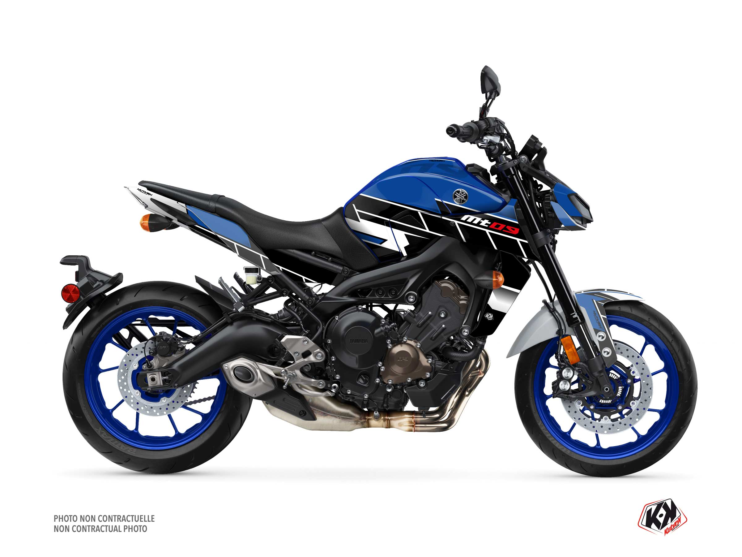 Yamaha MT 09 Street Bike Conquer Graphic Kit Blue