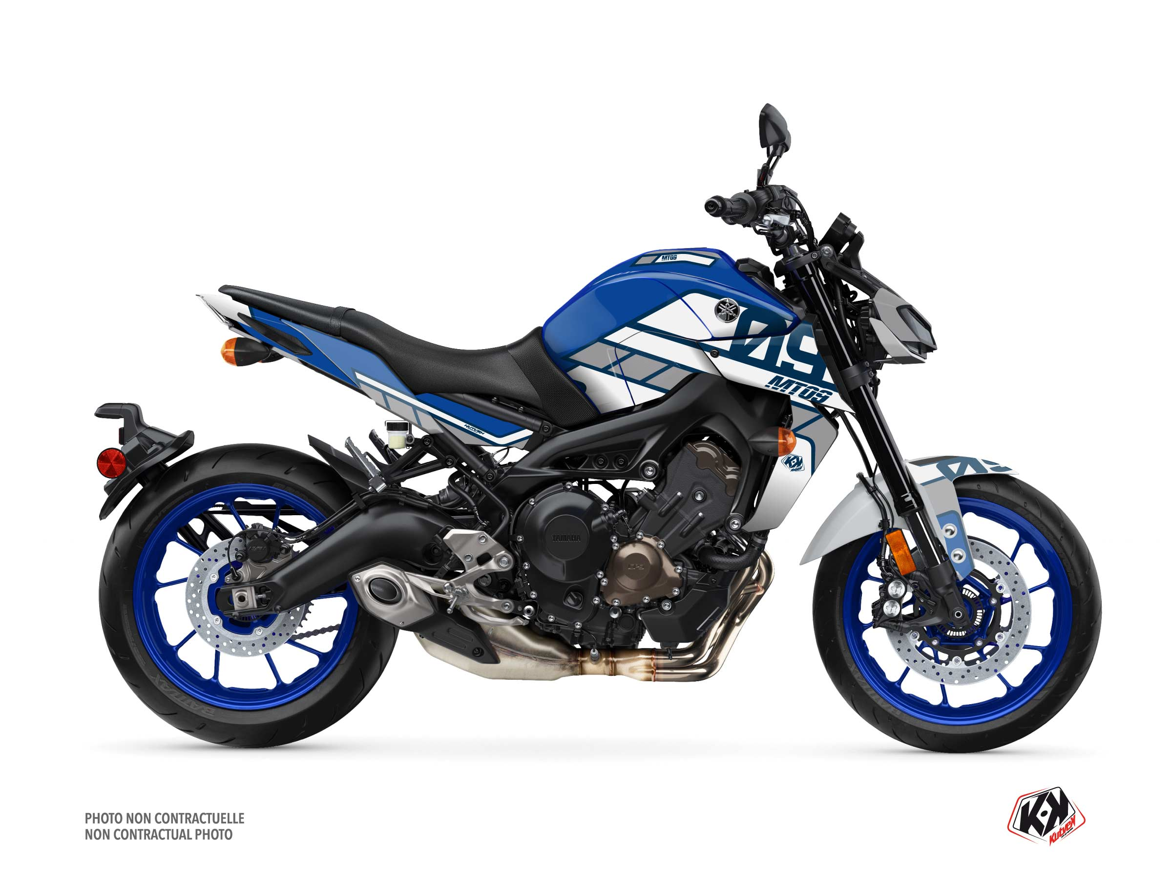 Yamaha MT 09 Street Bike Player Graphic Kit Blue