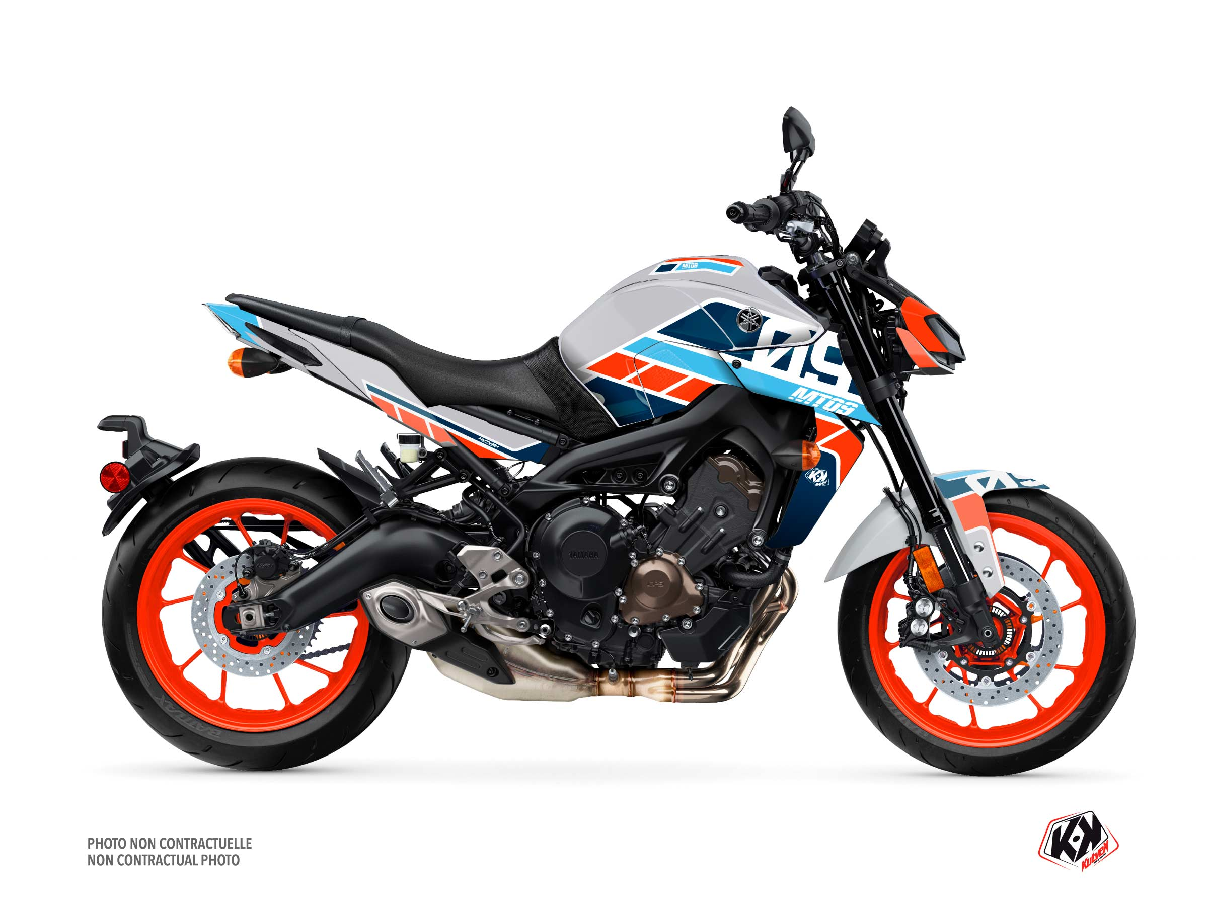 Yamaha MT 09 Street Bike Player Graphic Kit Grey
