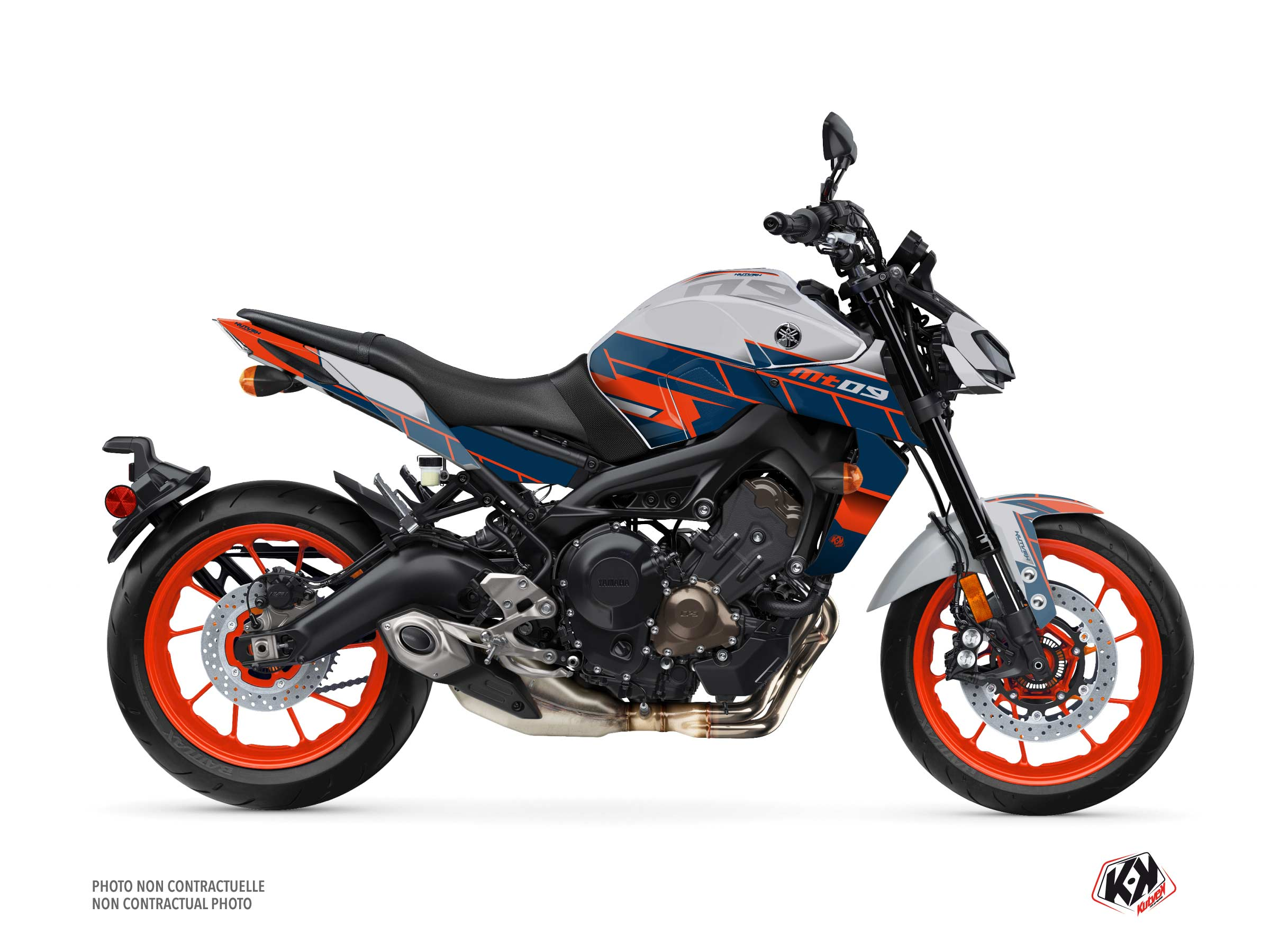 Yamaha MT 09 Street Bike Conquer Graphic Kit Grey