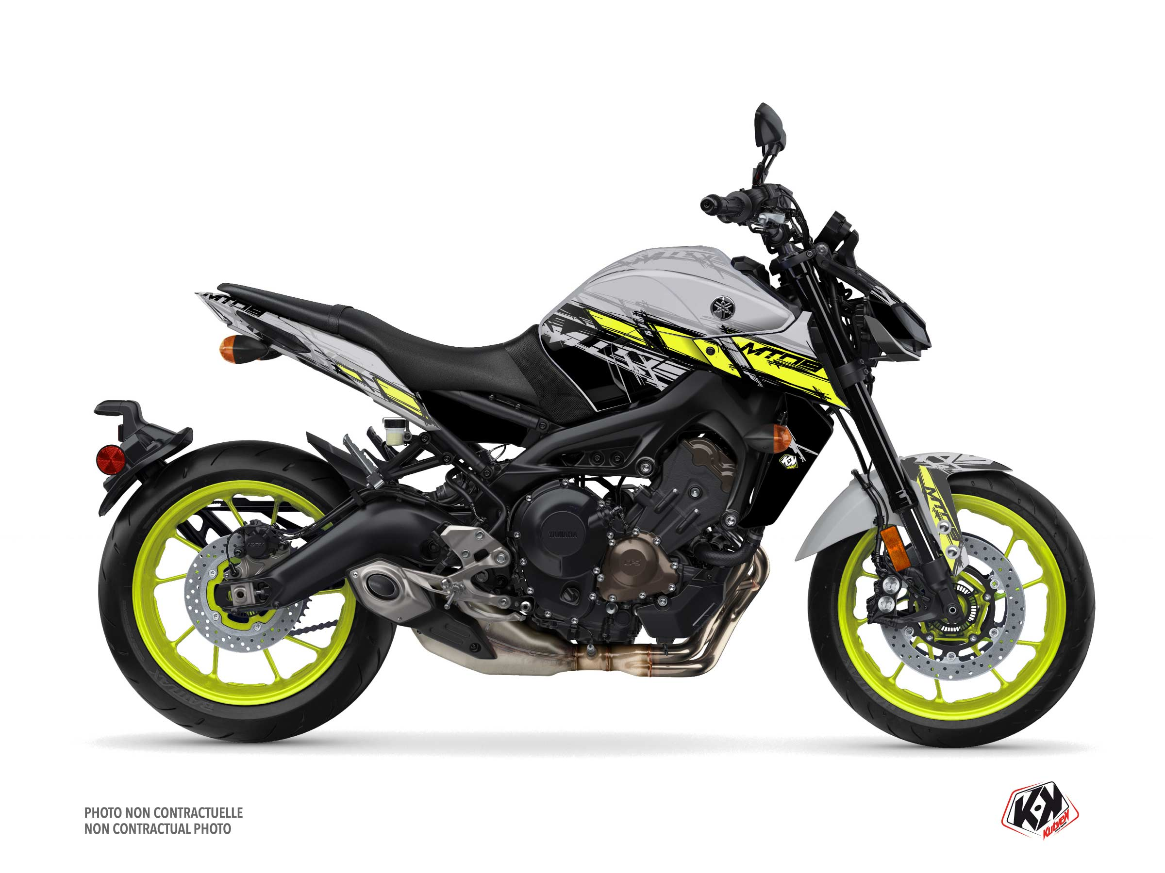 Yamaha MT 09 Street Bike Channel Graphic Kit Yellow