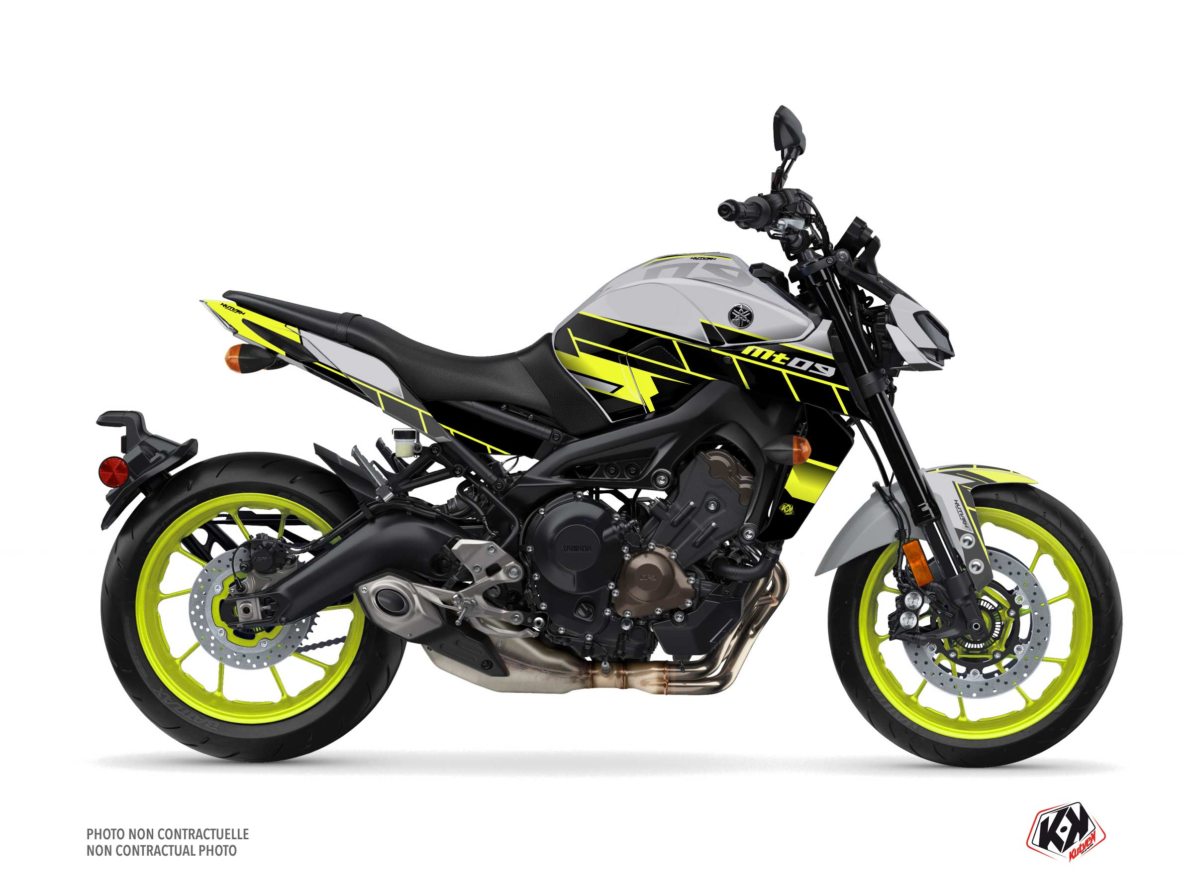 Yamaha MT 09 Street Bike Conquer Graphic Kit Yellow