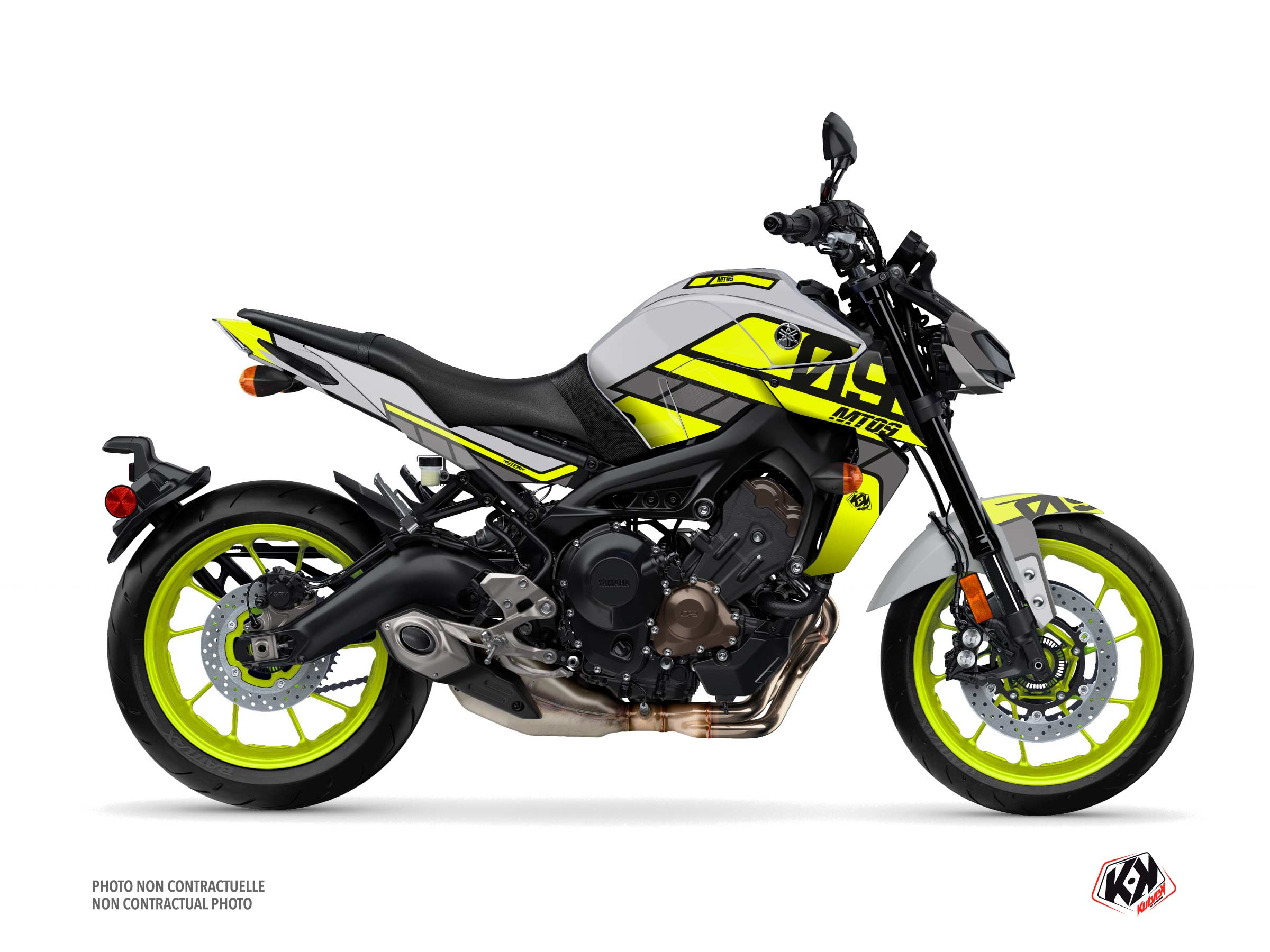 Yamaha MT 09 Street Bike Player Graphic Kit Yellow