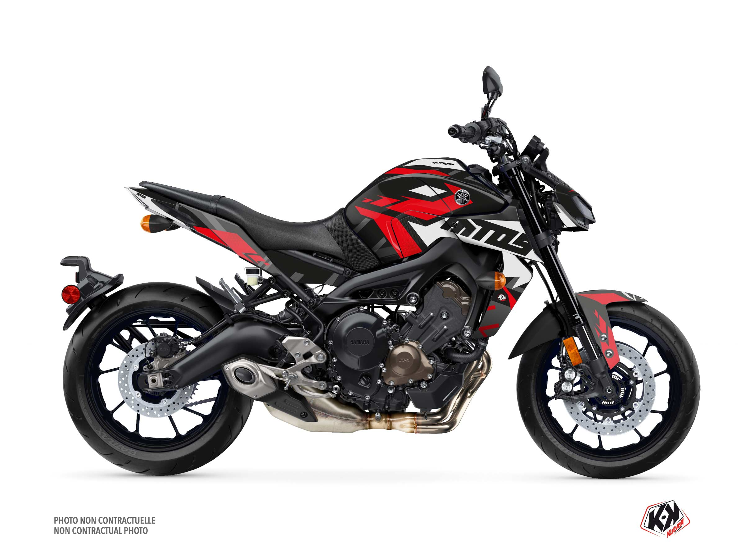 Yamaha MT 09 Street Bike Sanctuary Graphic Kit Black
