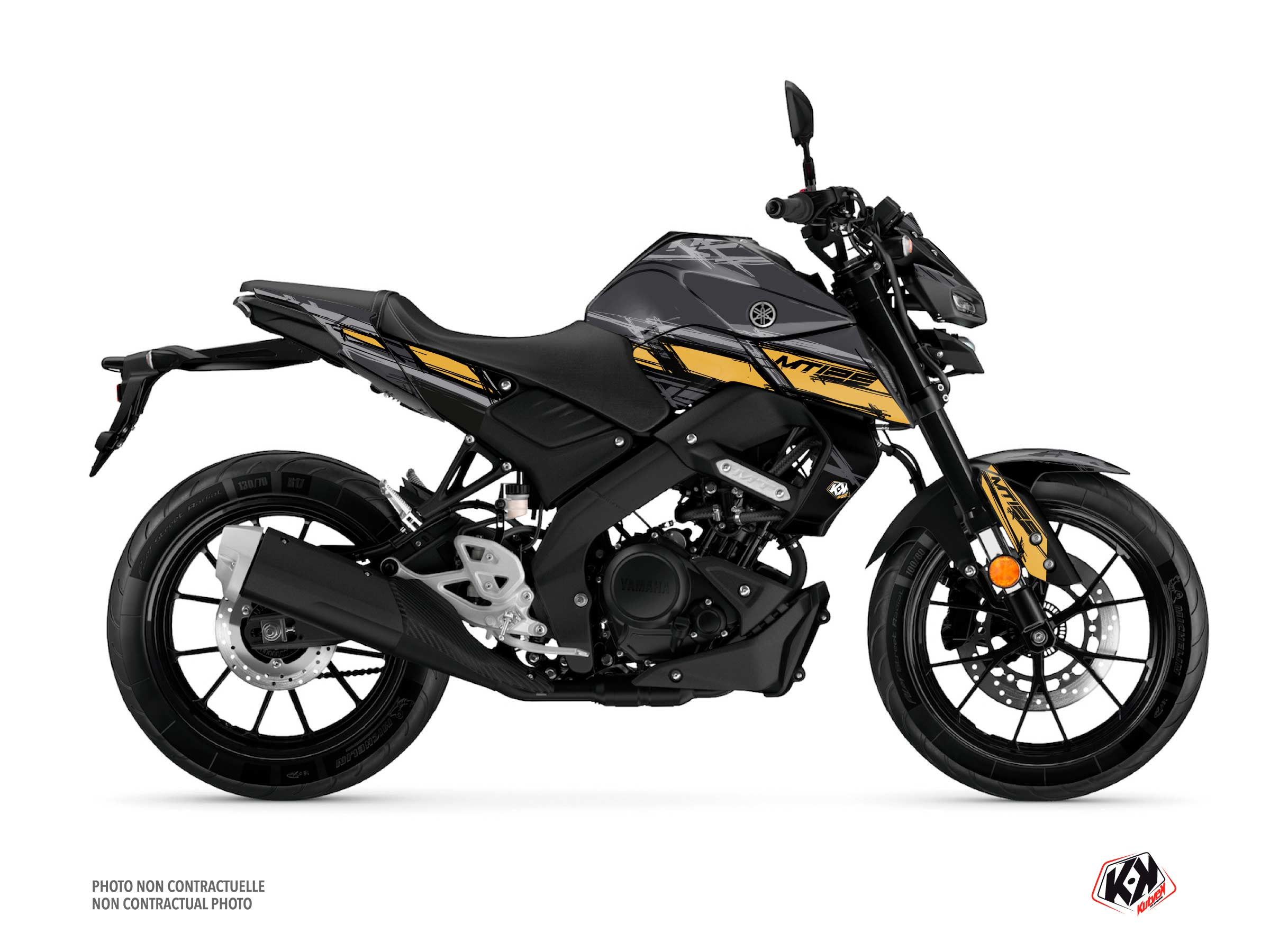 Yamaha MT 125 Street Bike Channel Graphic Kit Black