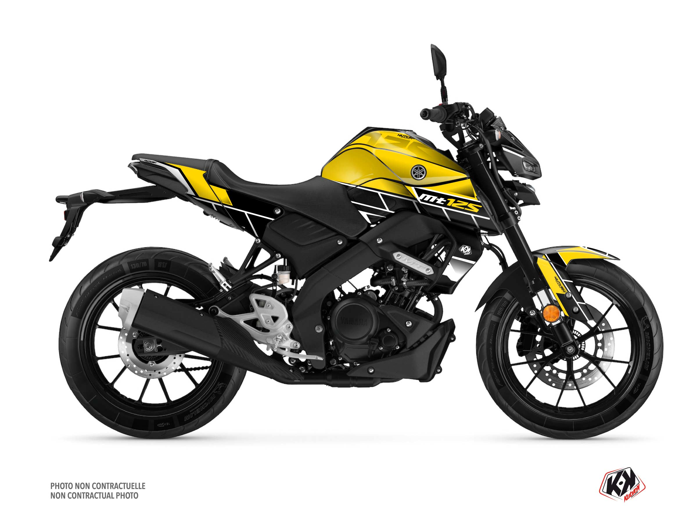 Yamaha MT 125 Street Bike Conquer Graphic Kit Black