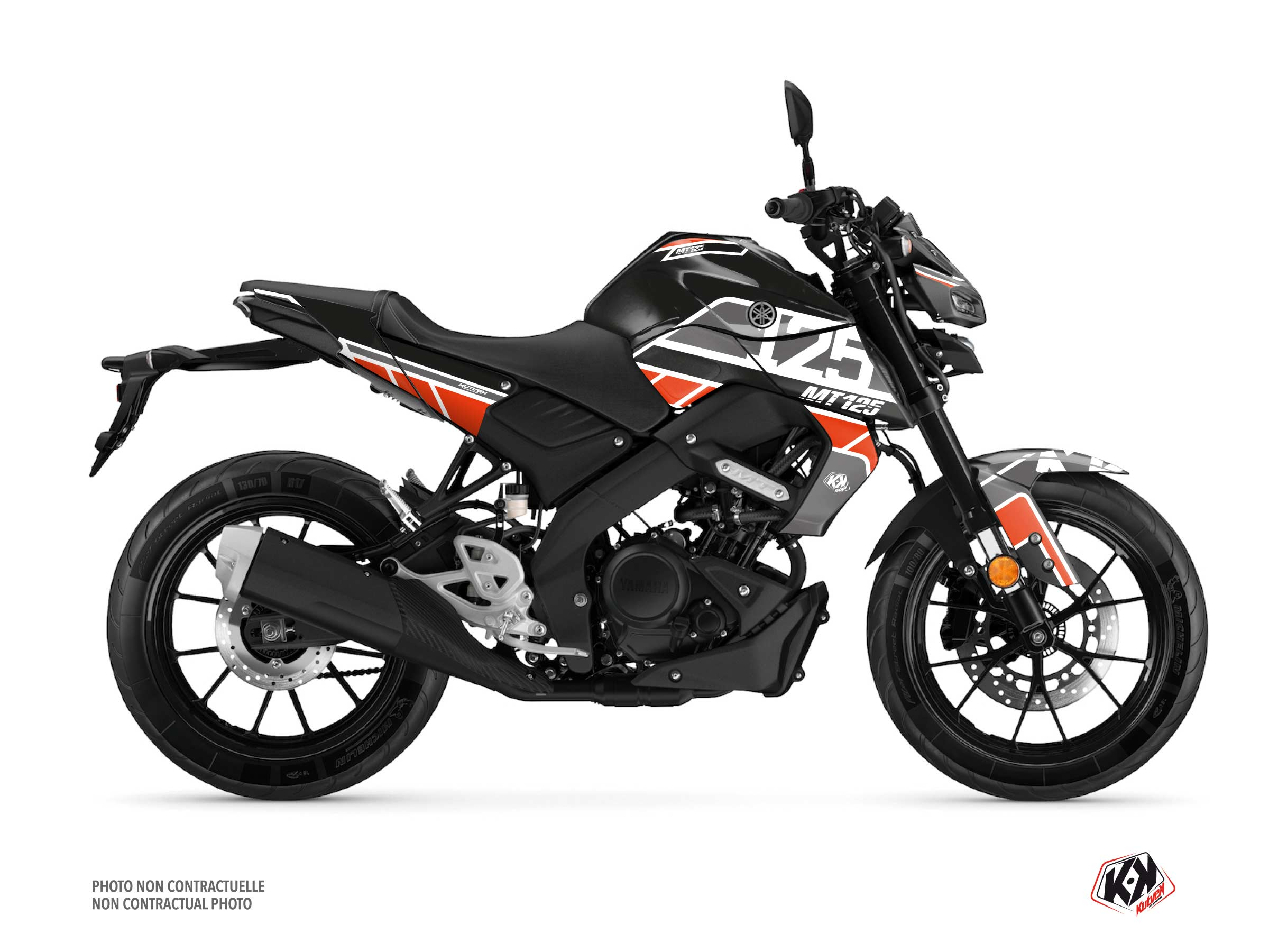Yamaha MT 125 Street Bike Player Graphic Kit Black