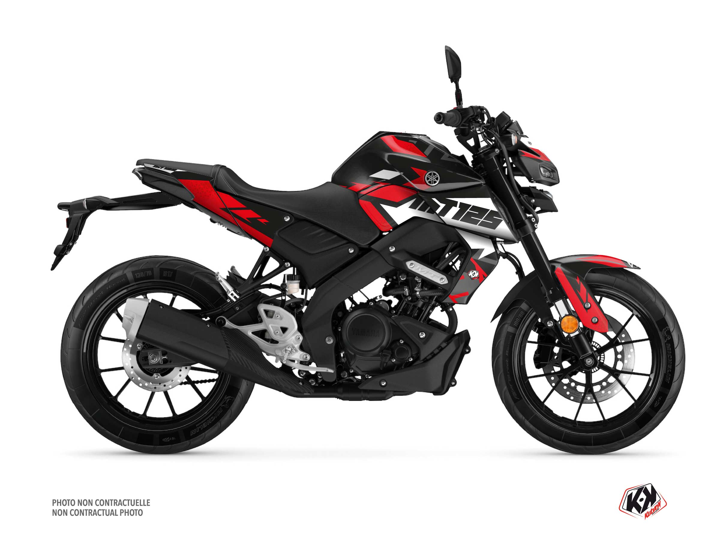 Yamaha MT 125 Street Bike Sanctuary Graphic Kit Black