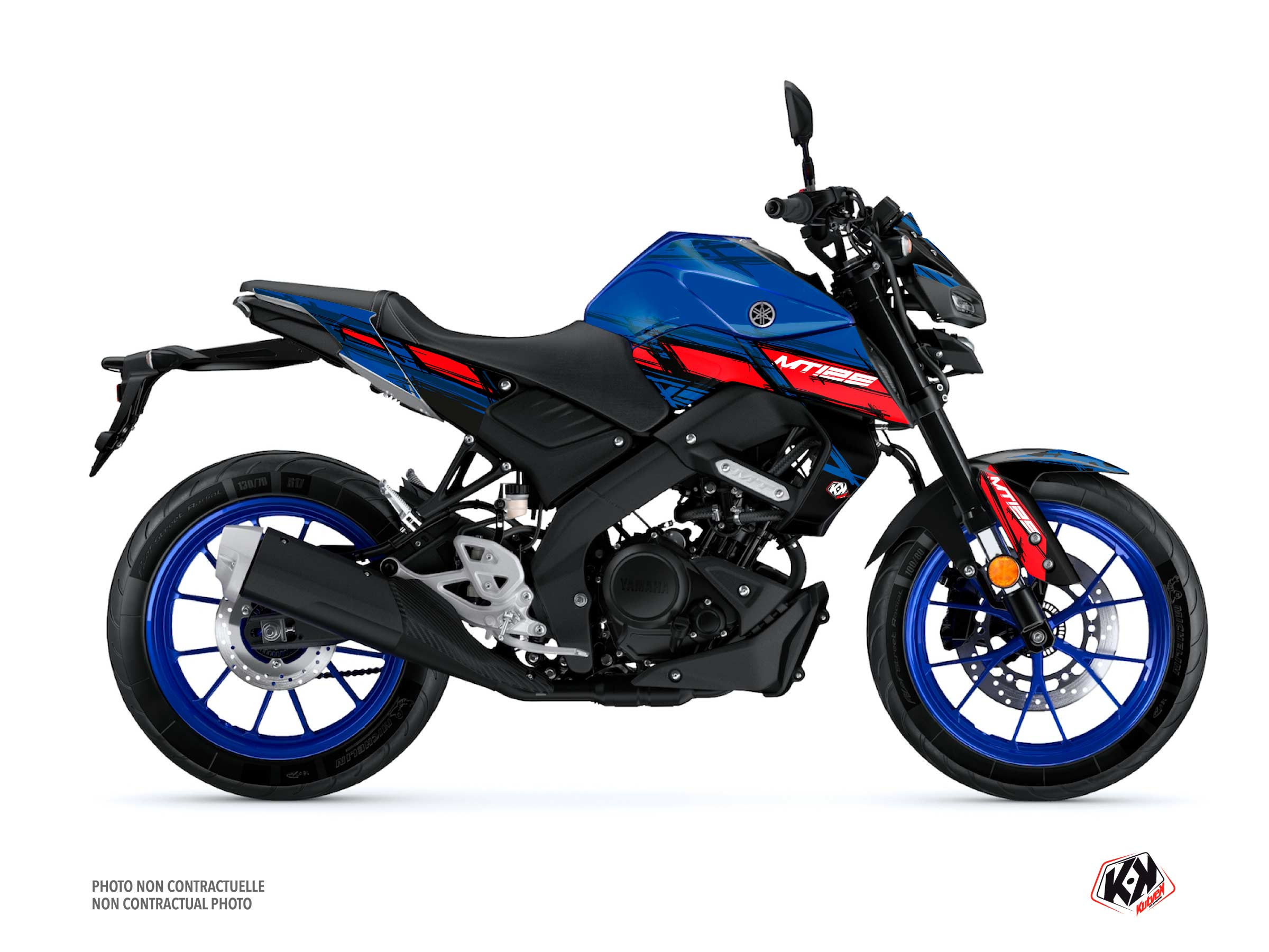 Yamaha MT 125 Street Bike Channel Graphic Kit Blue