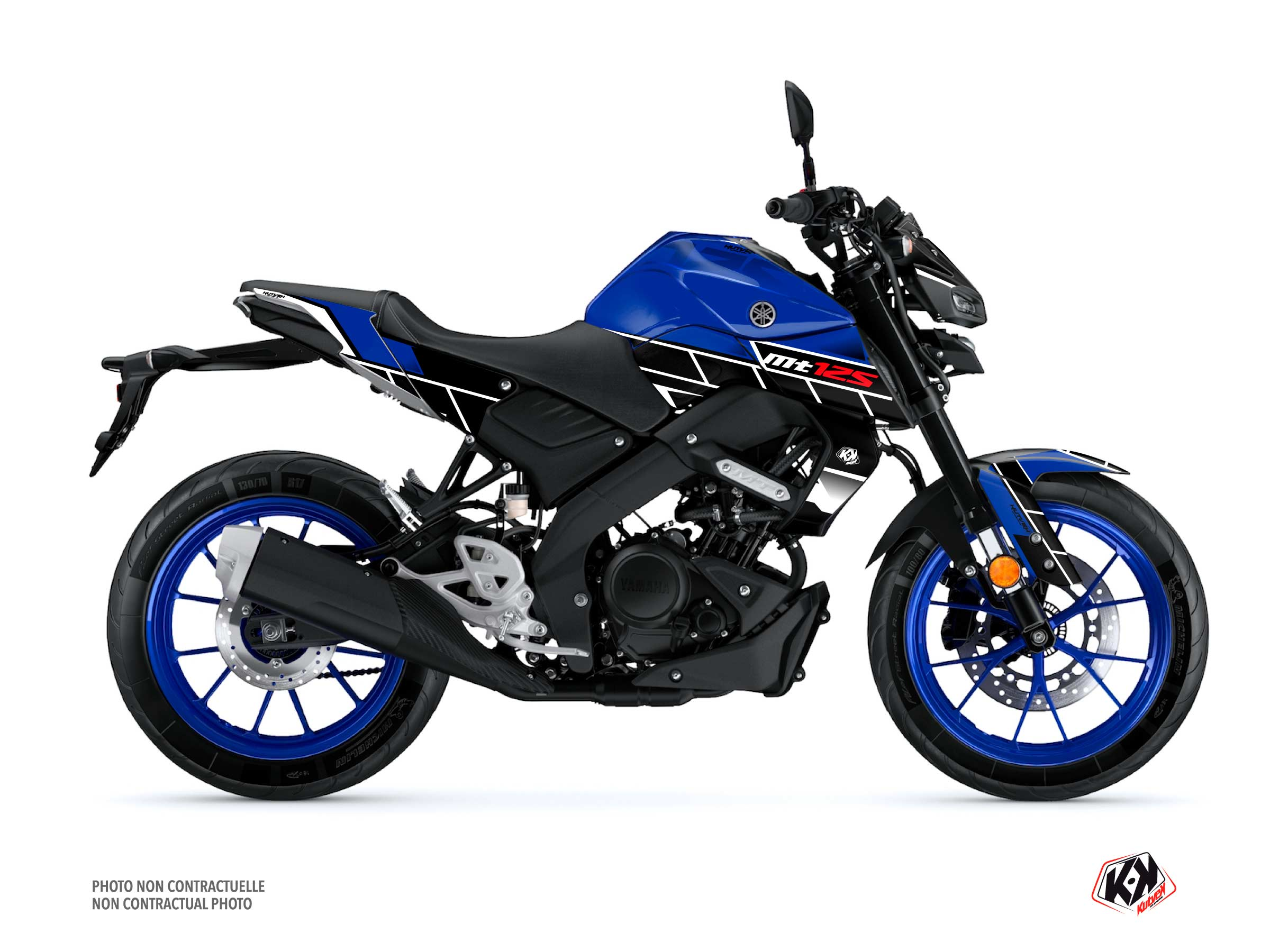 Yamaha MT 125 Street Bike Conquer Graphic Kit Blue
