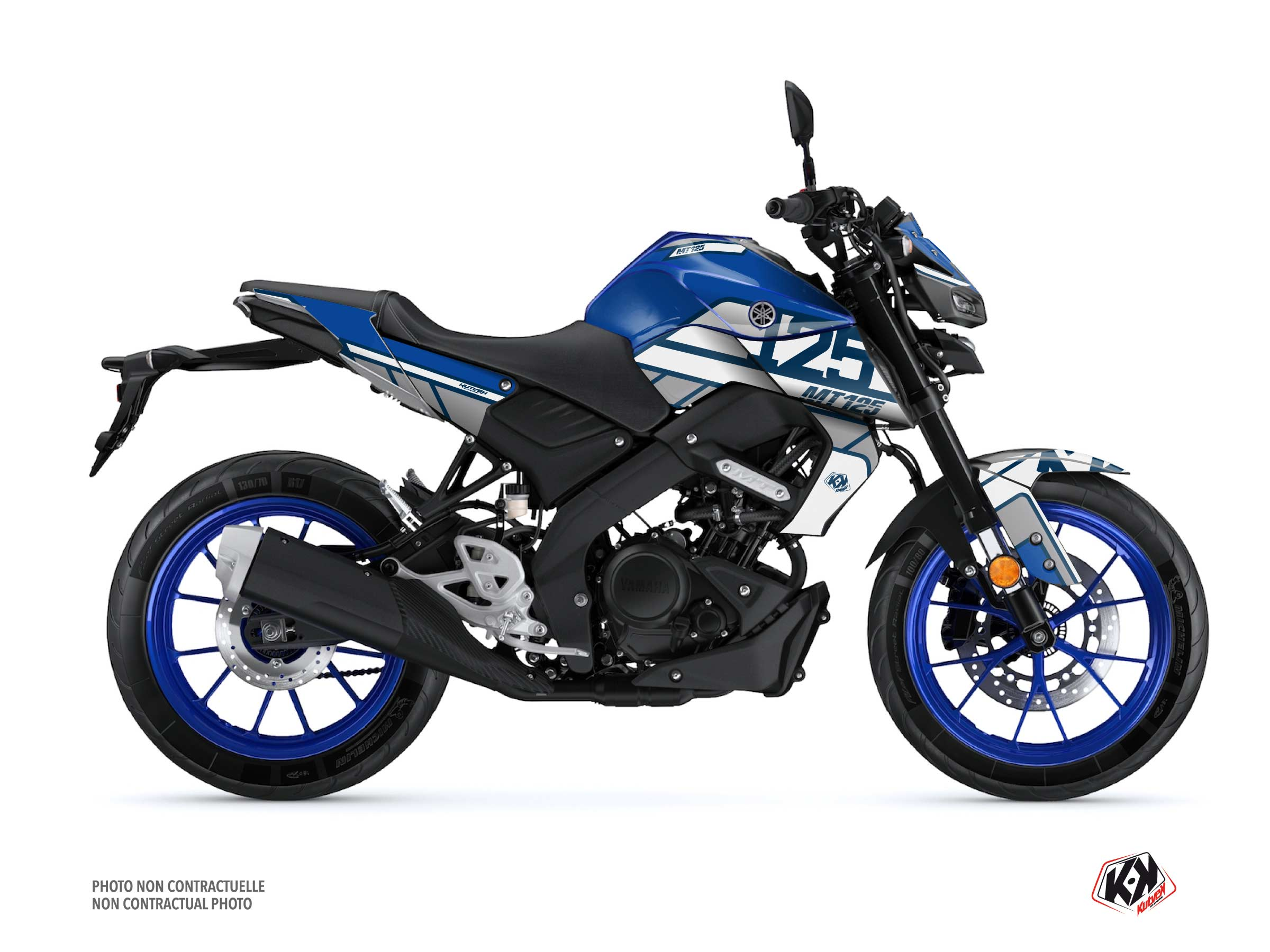 Yamaha MT 125 Street Bike Player Graphic Kit Blue