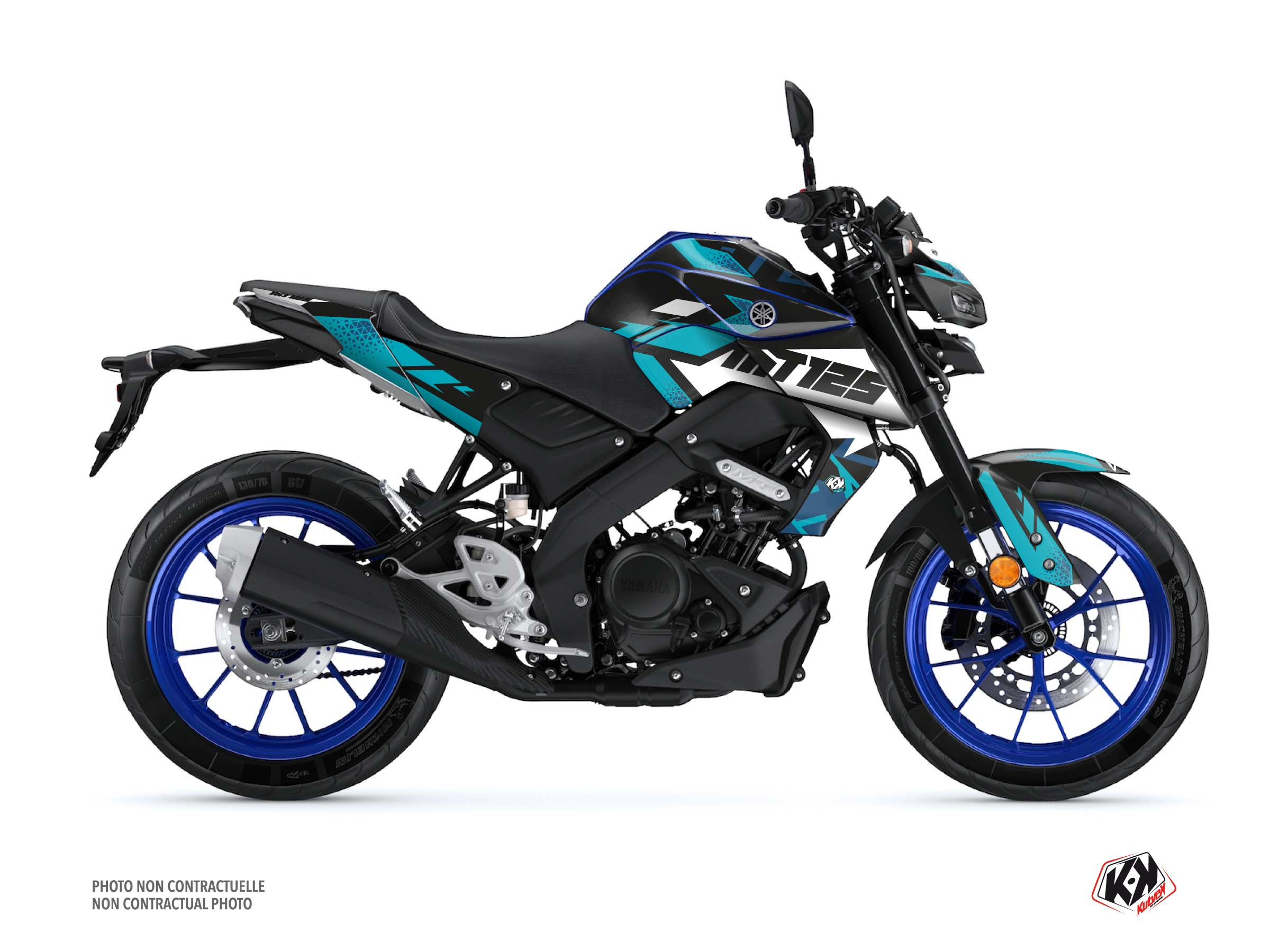 Yamaha MT 125 Street Bike Sanctuary Graphic Kit Blue
