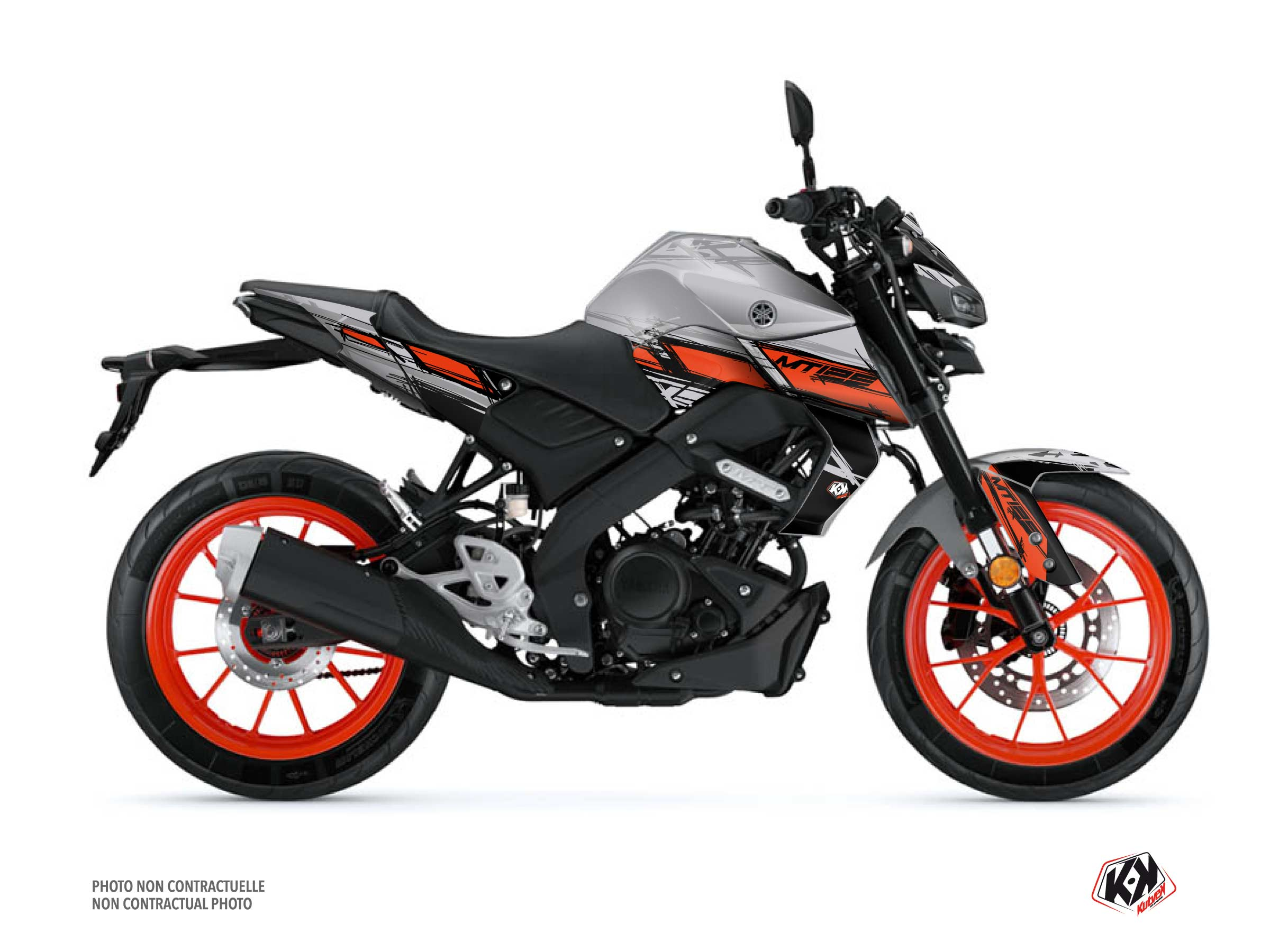 Yamaha MT 125 Street Bike Channel Graphic Kit Grey