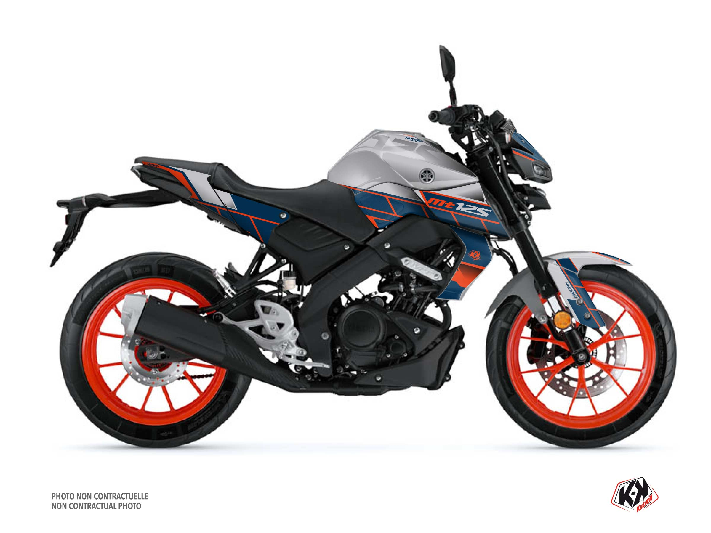 Yamaha MT 125 Street Bike Conquer Graphic Kit Grey