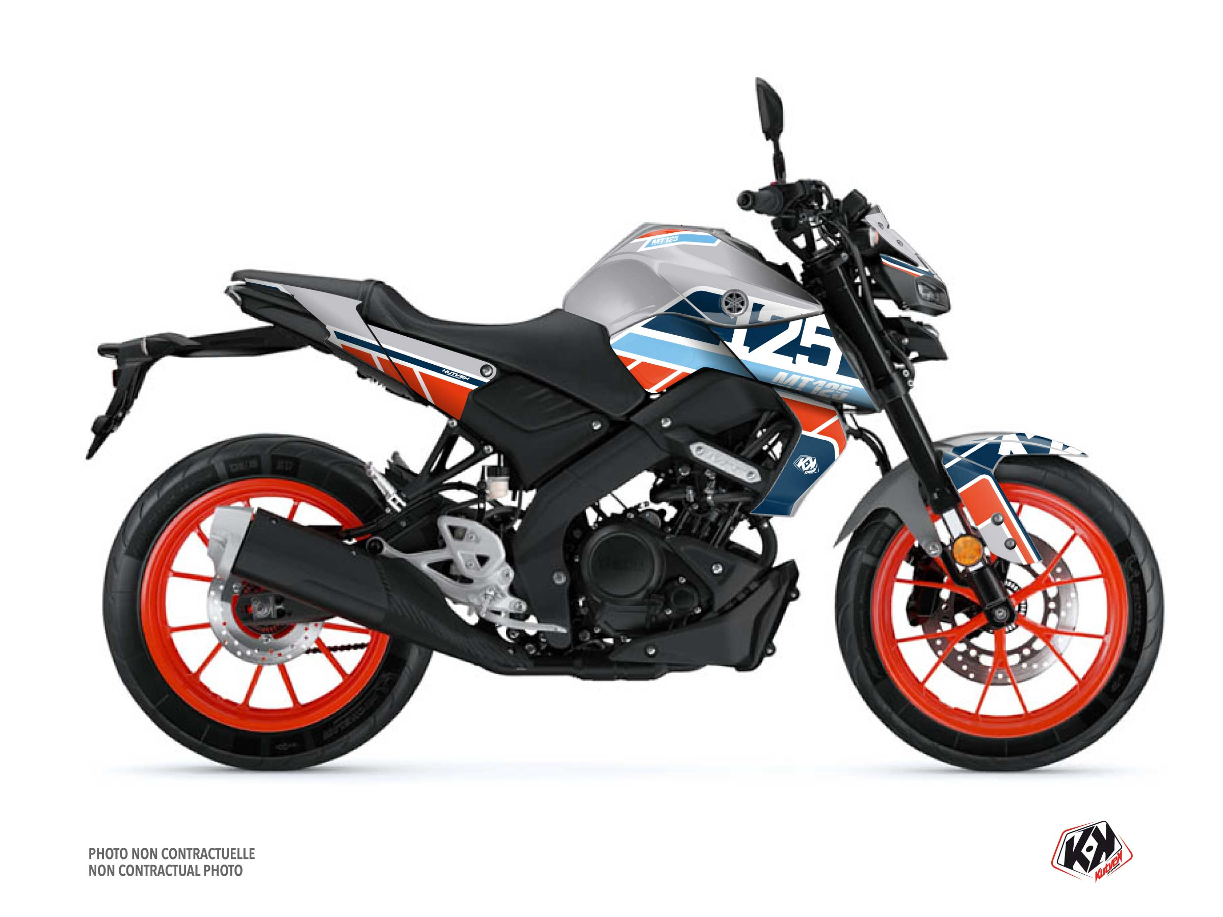 Yamaha MT 125 Street Bike Player Graphic Kit Grey