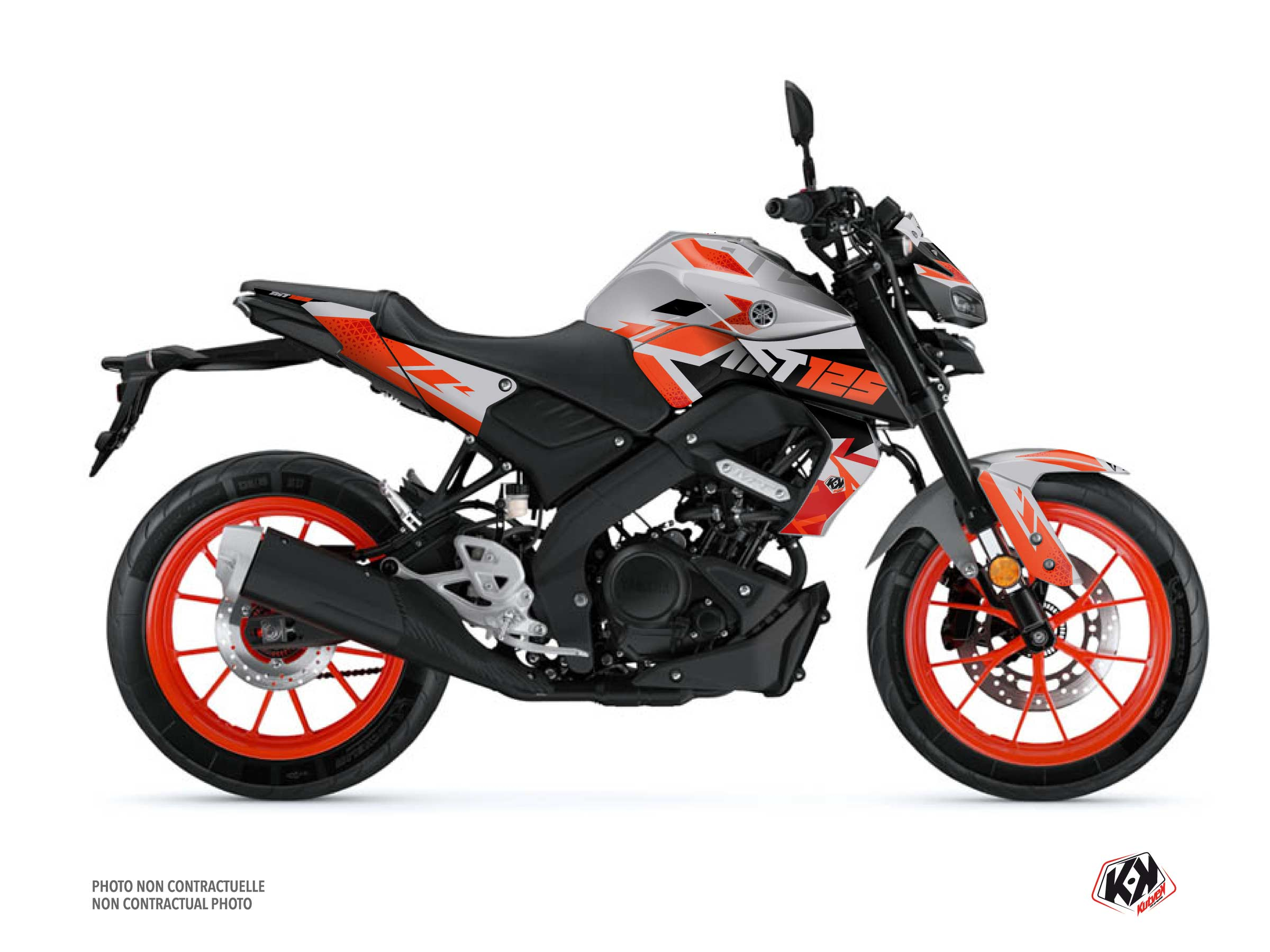 Yamaha MT 125 Street Bike Sanctuary Graphic Kit Grey