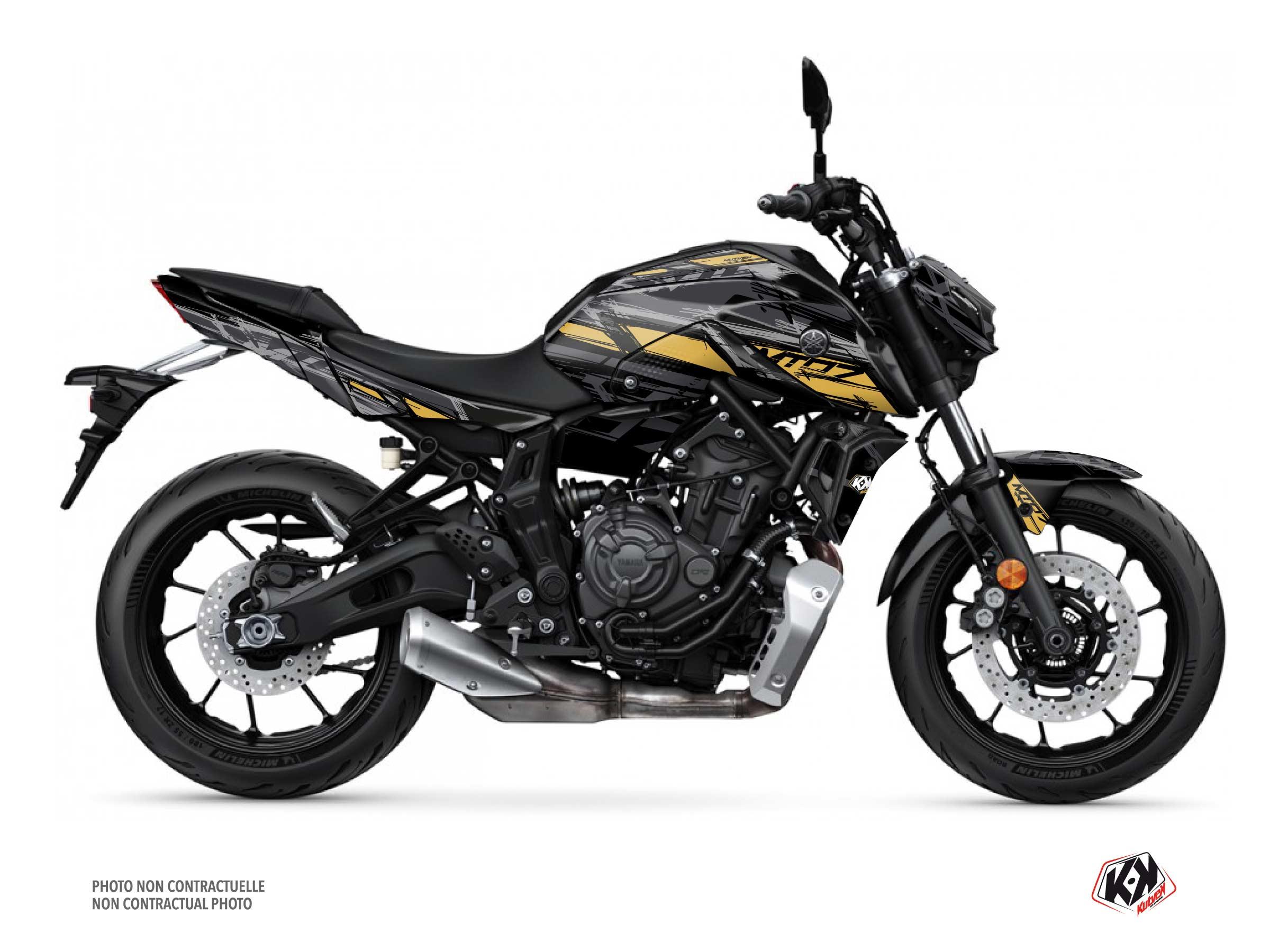Kit Déco Moto Channel Yamaha MT 07 Noir