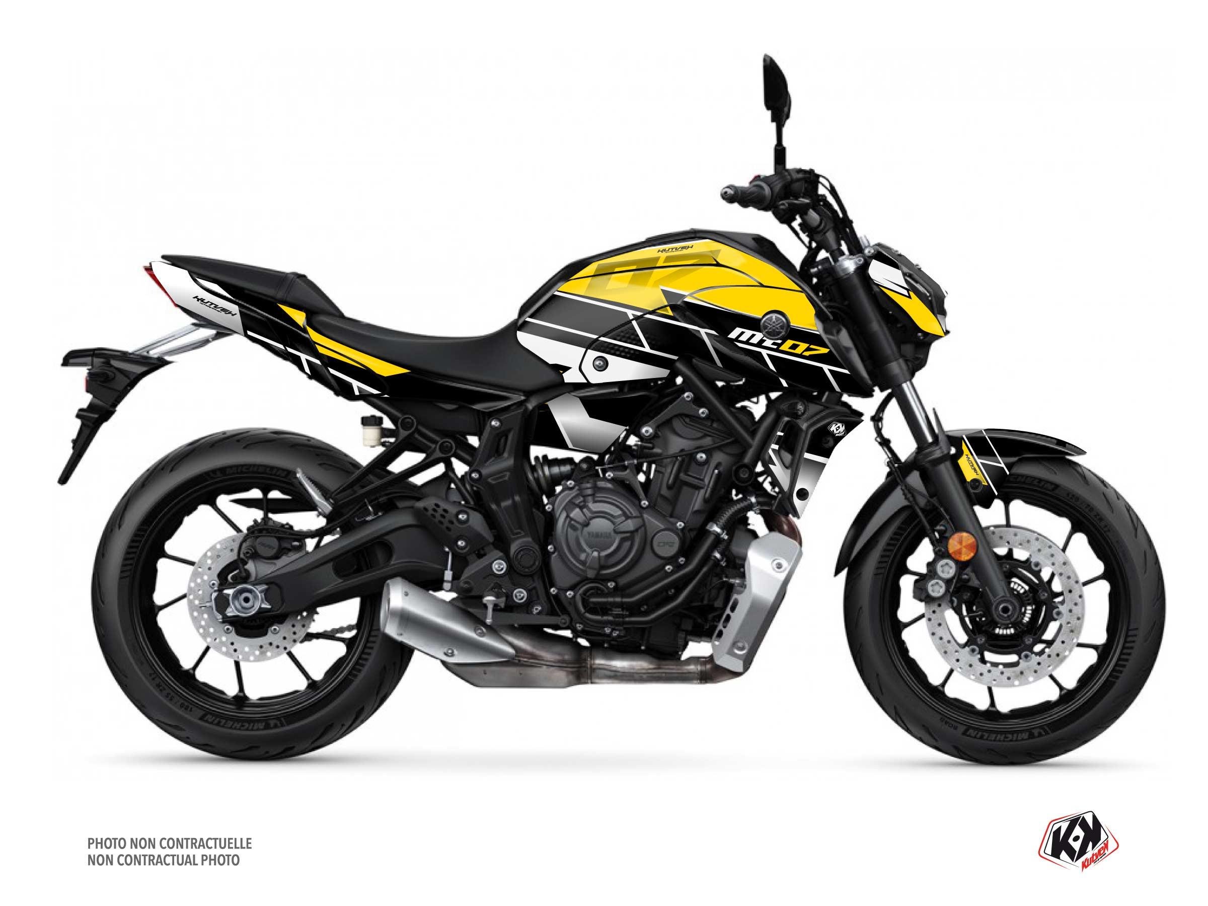 Kit Déco Moto Conquer Yamaha MT 07 Noir