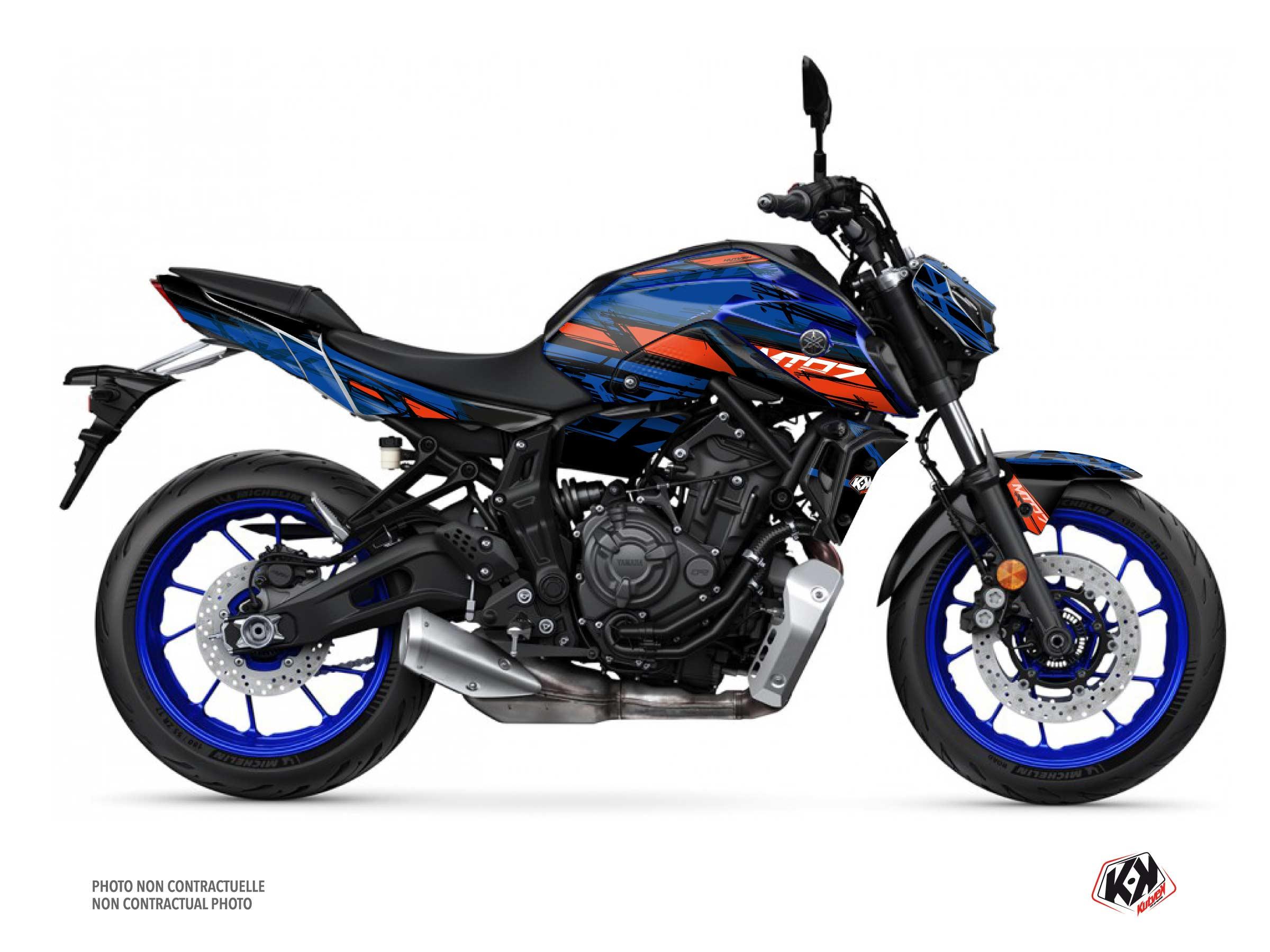 Kit Déco Moto Channel Yamaha MT 07 Bleu